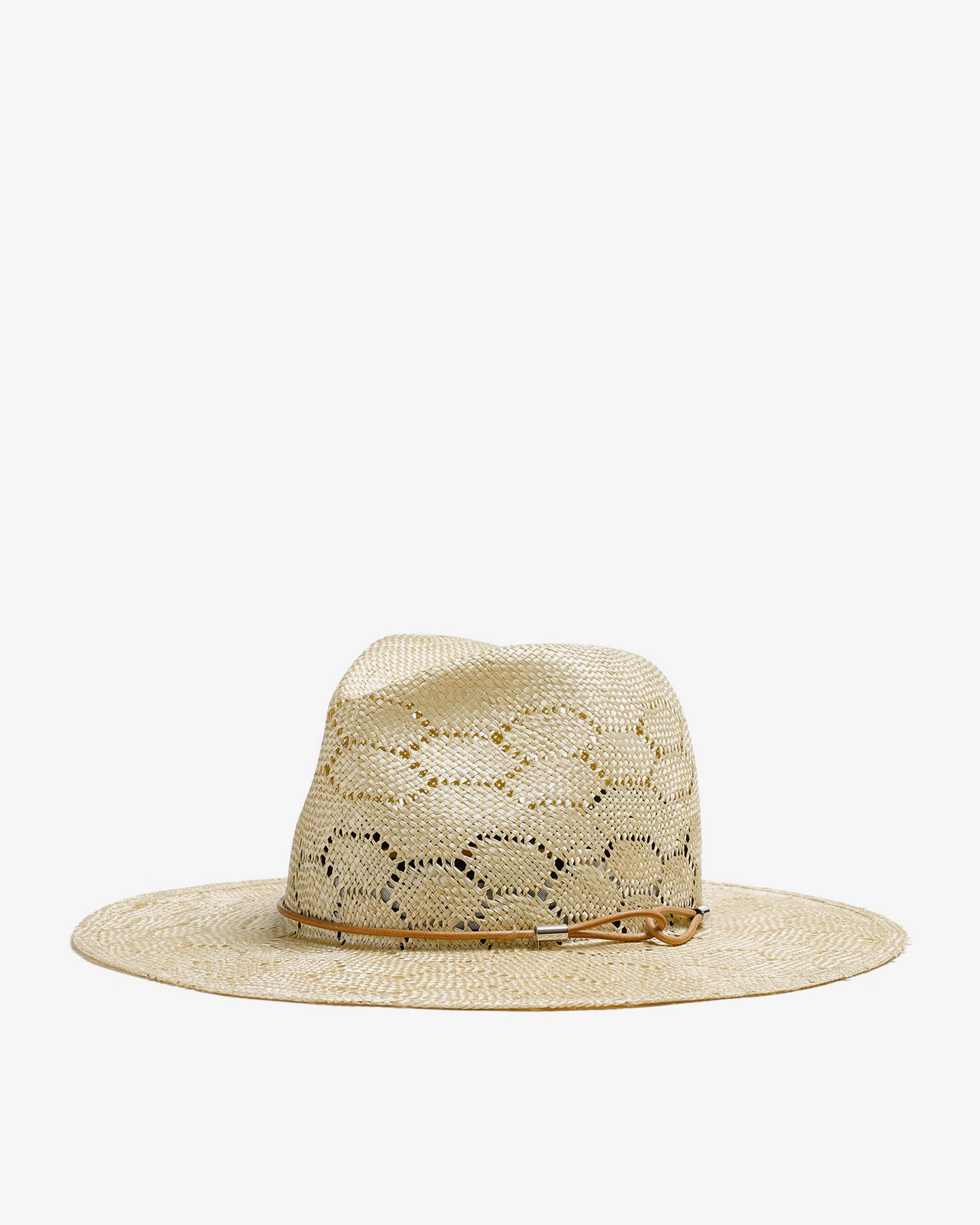 Straw Wide Brim Fedora