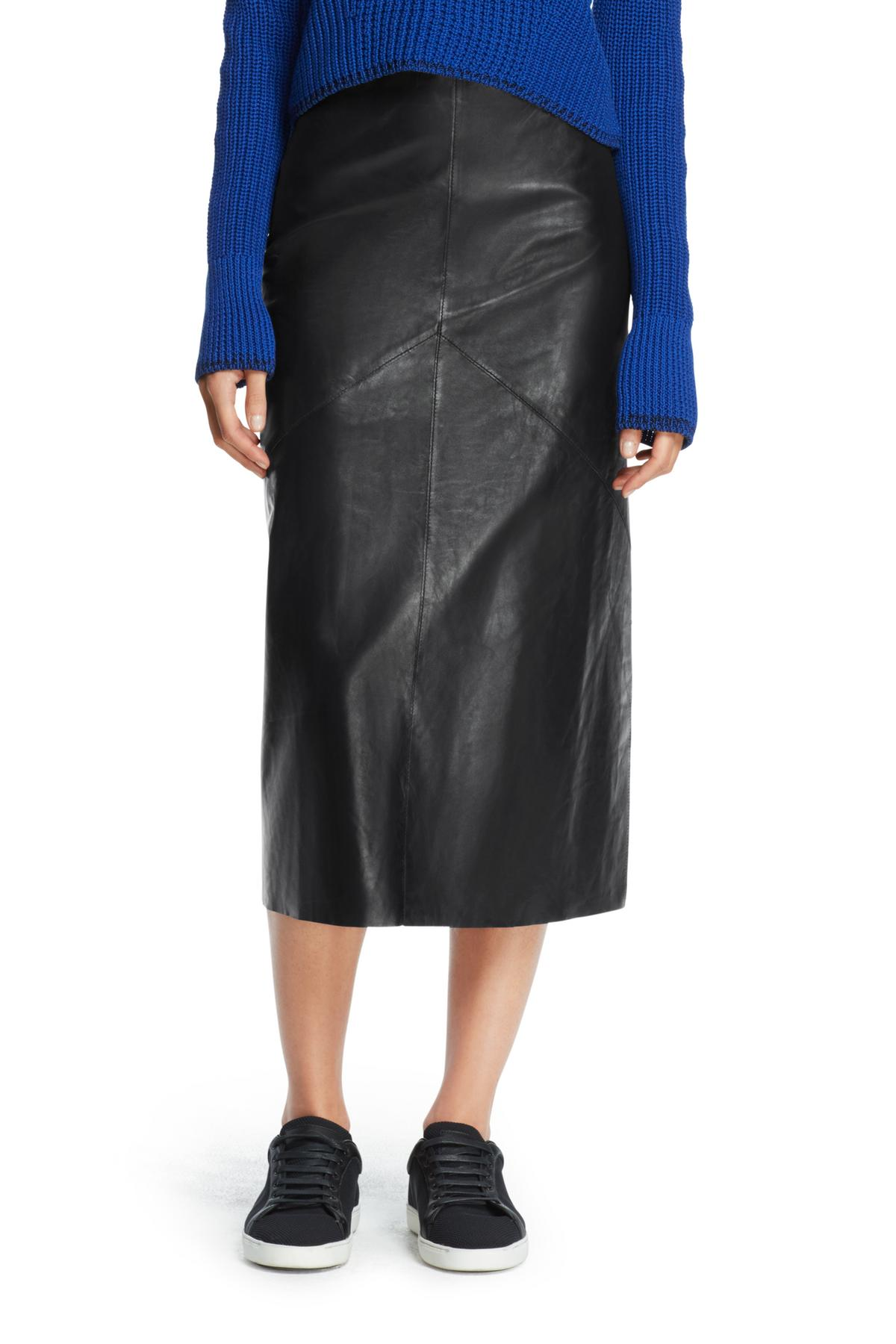 RAG & BONE LEATHER WILLOW SKIRT