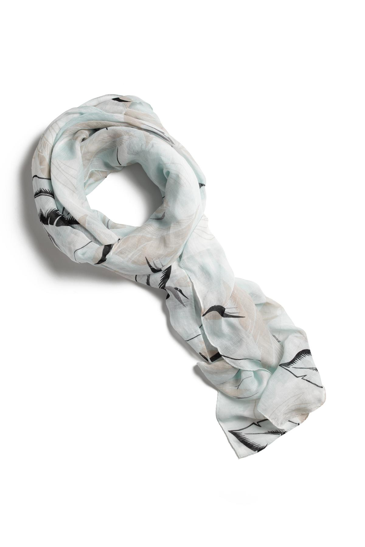 RAG & BONE PALM PRINT SCARF