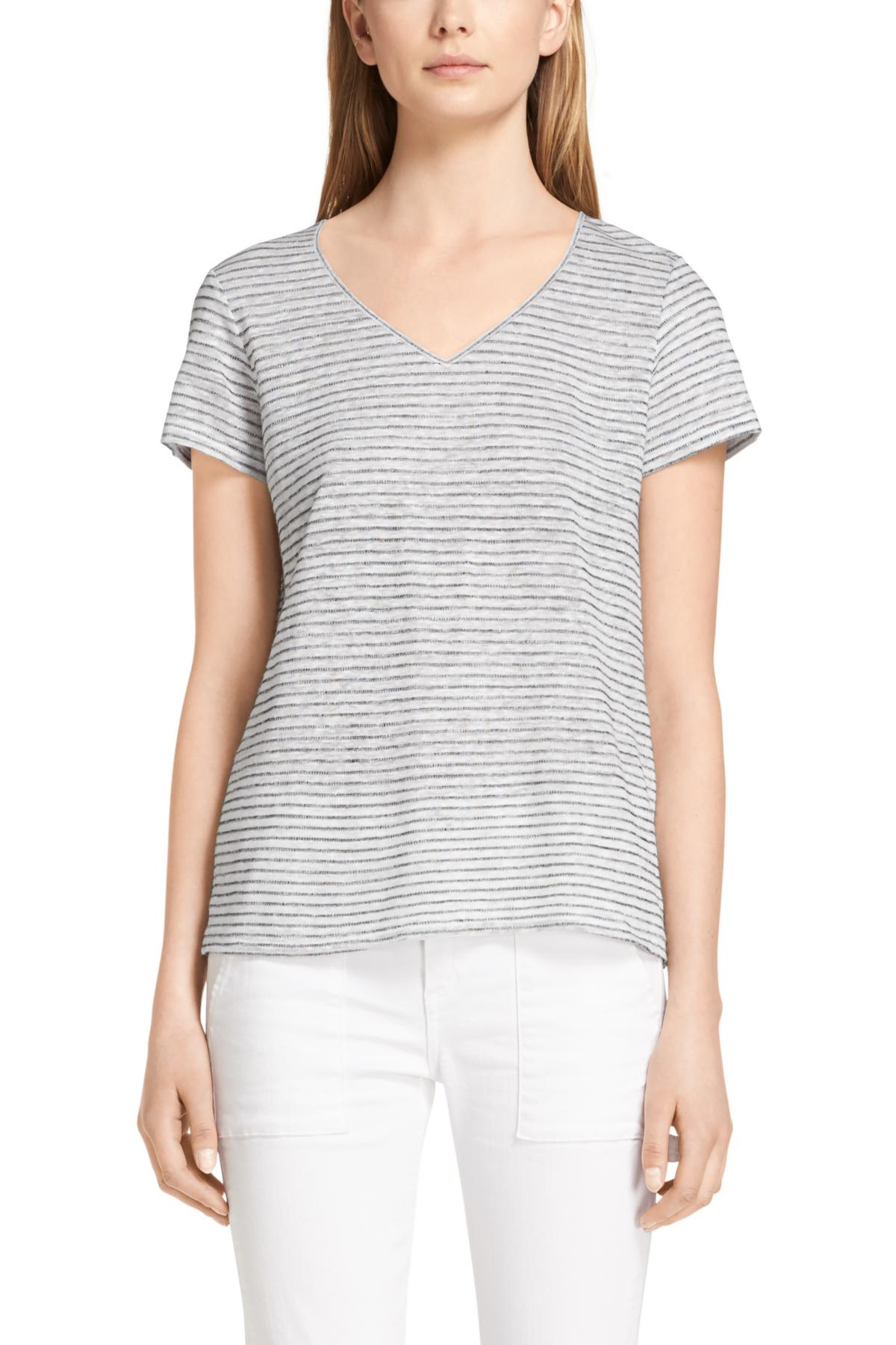RAG & BONE SUMMER STRIPE BASE V-NECK