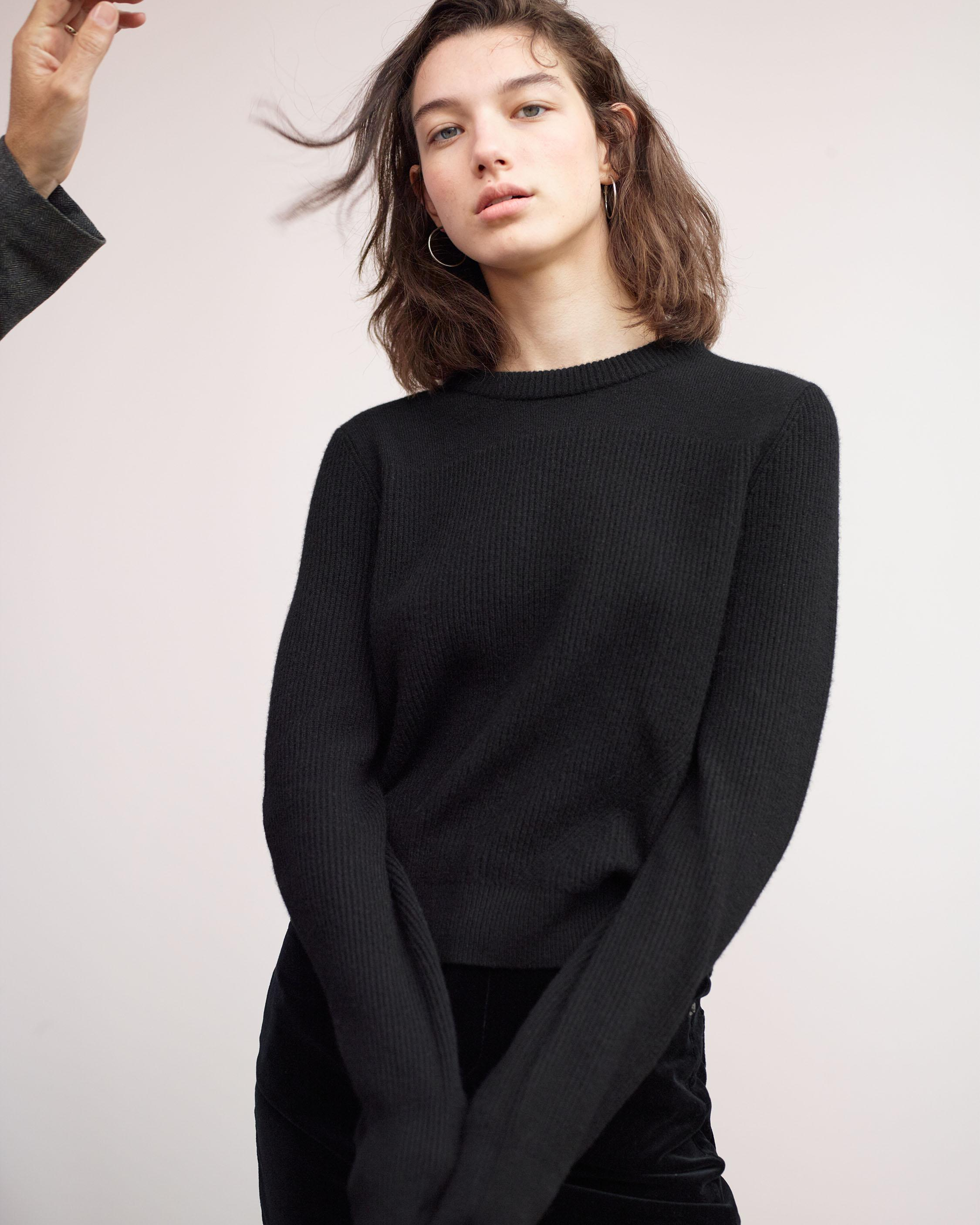 ACE CASHMERE CROP SWEATER