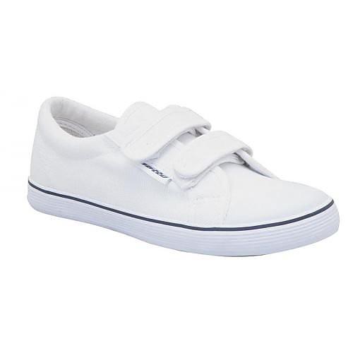Ginnastica Velcro - White