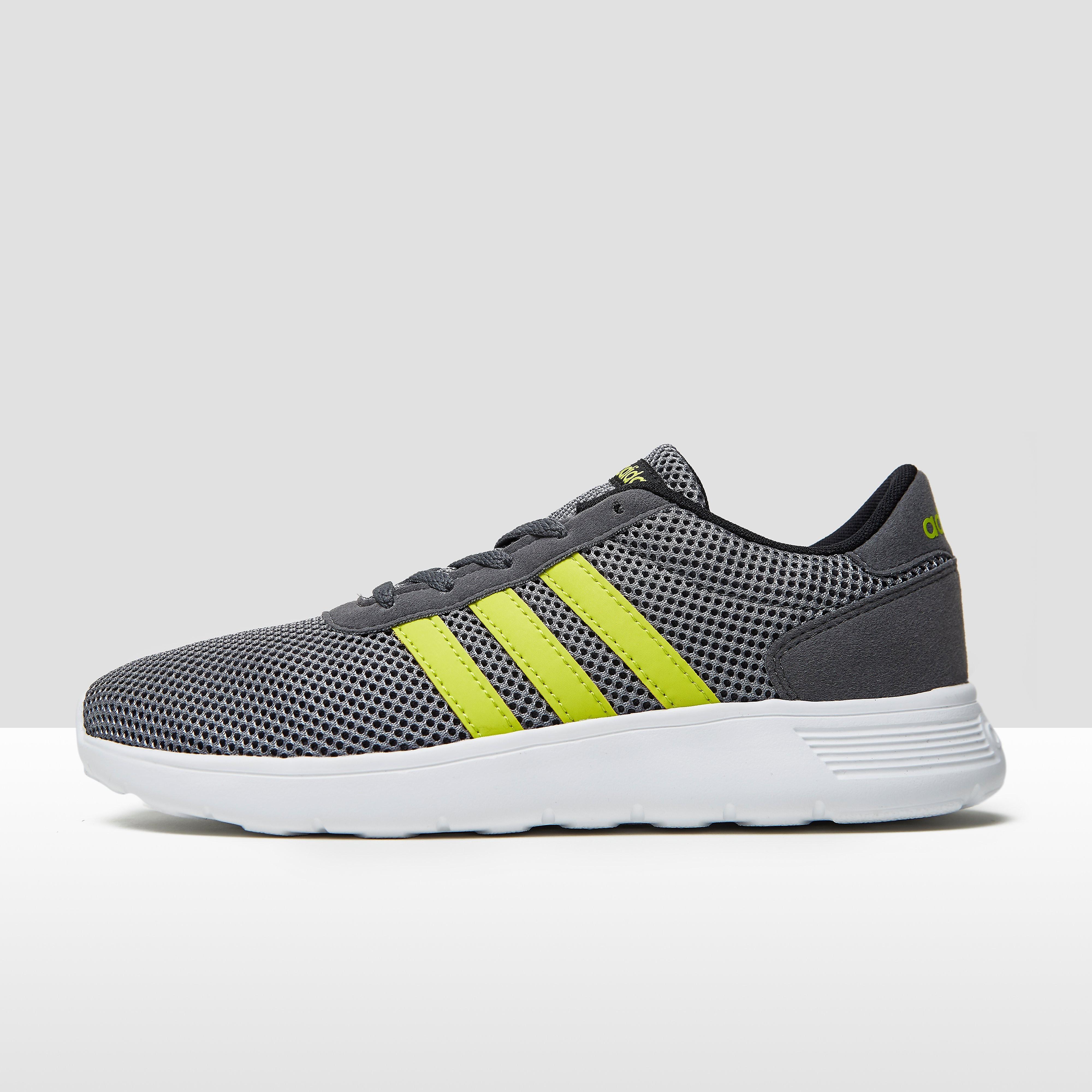 Adidas Lite Racer kindersneaker grijs en geel