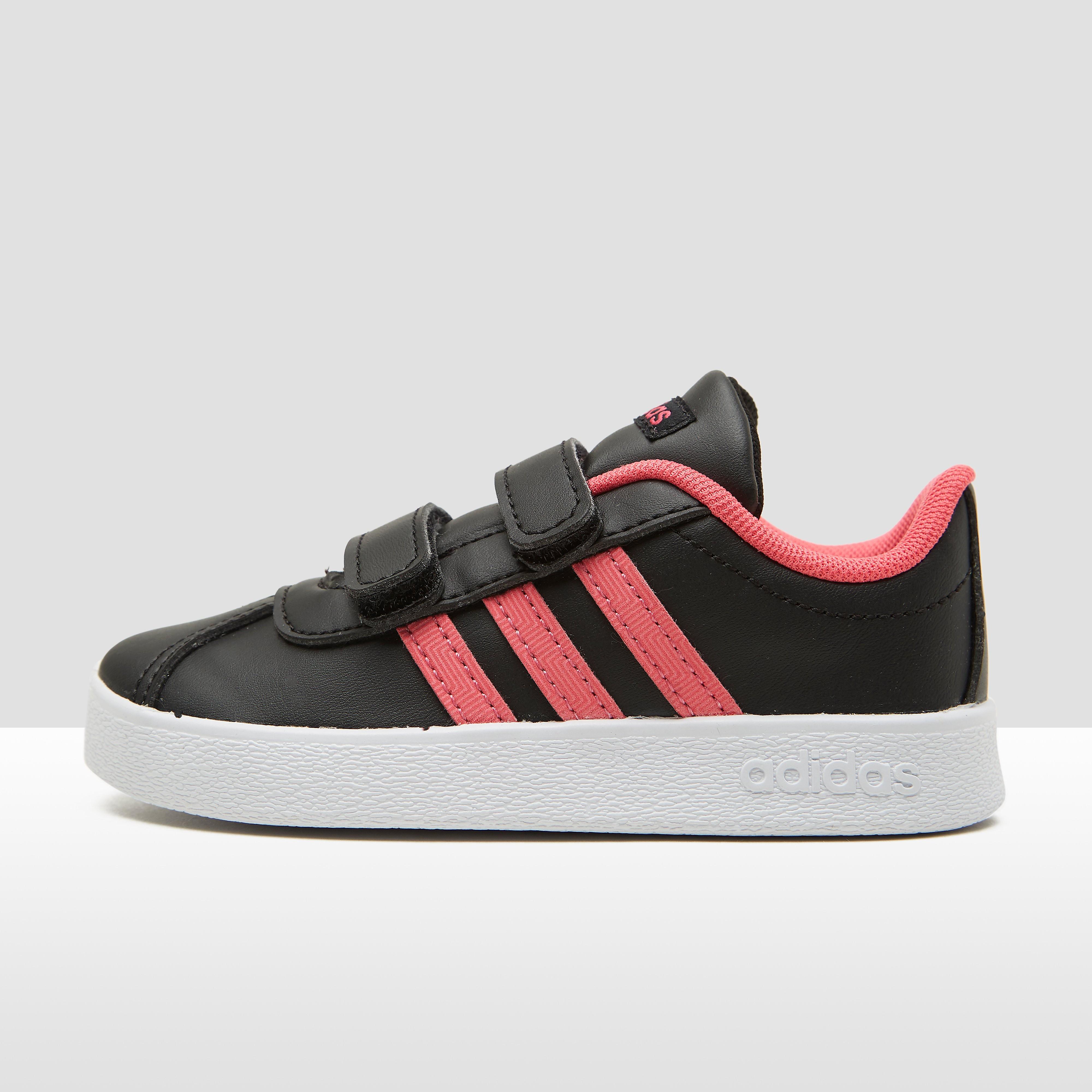 Adidas VL Court babysneaker roze en wit