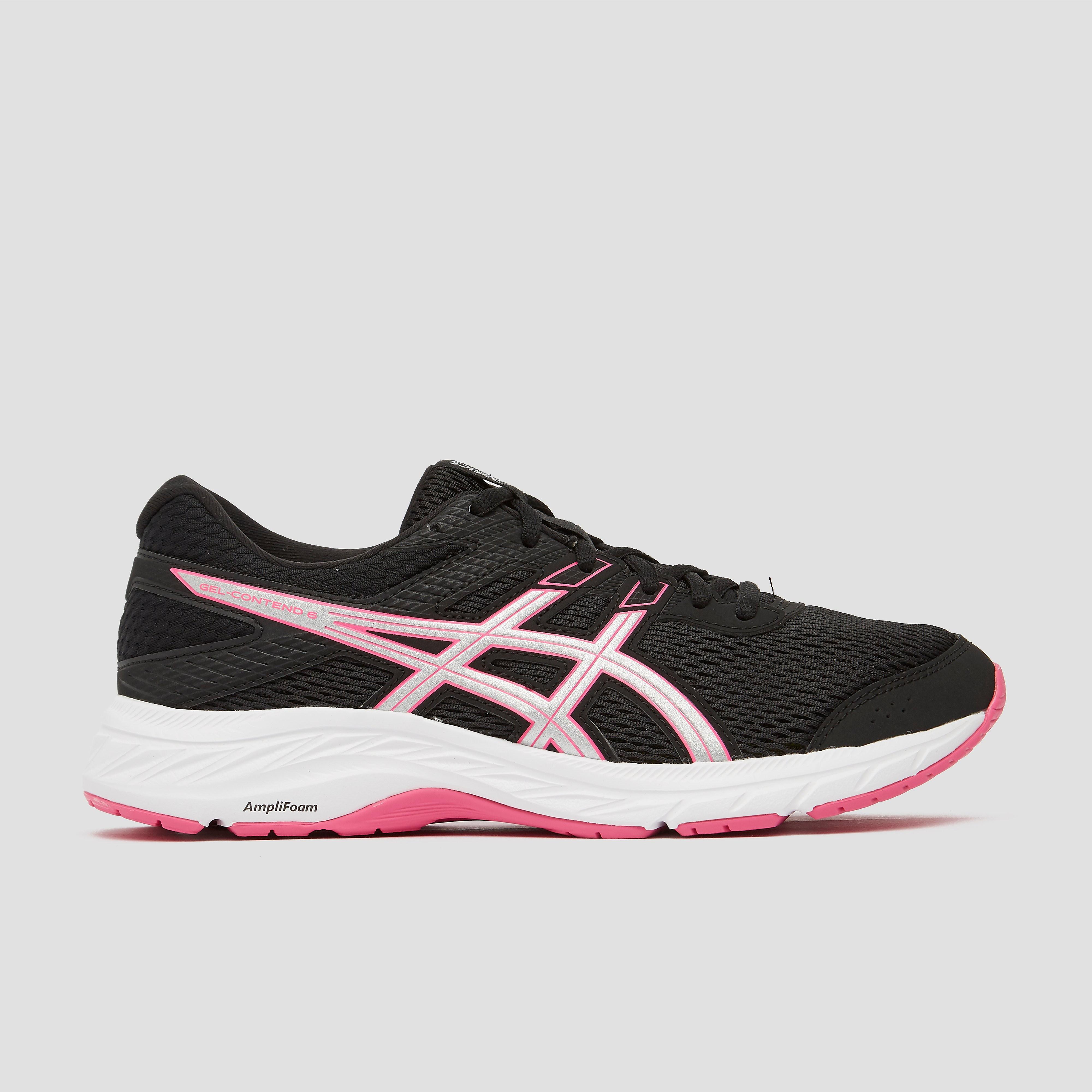 ASICS Gel-contend 6 hardloopschoenen zwart-roze dames Dames