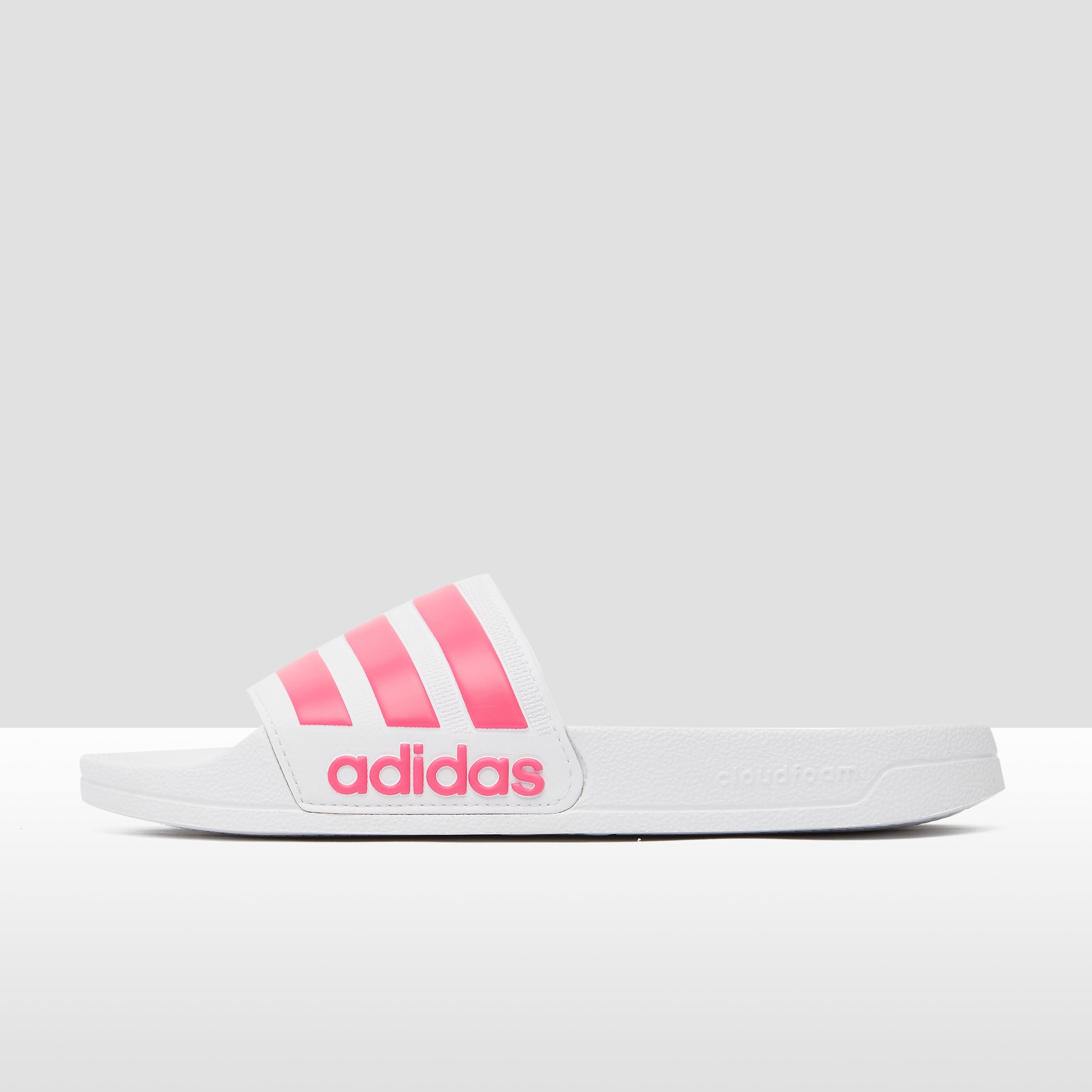 Adilette shower slippers wit-roze dames