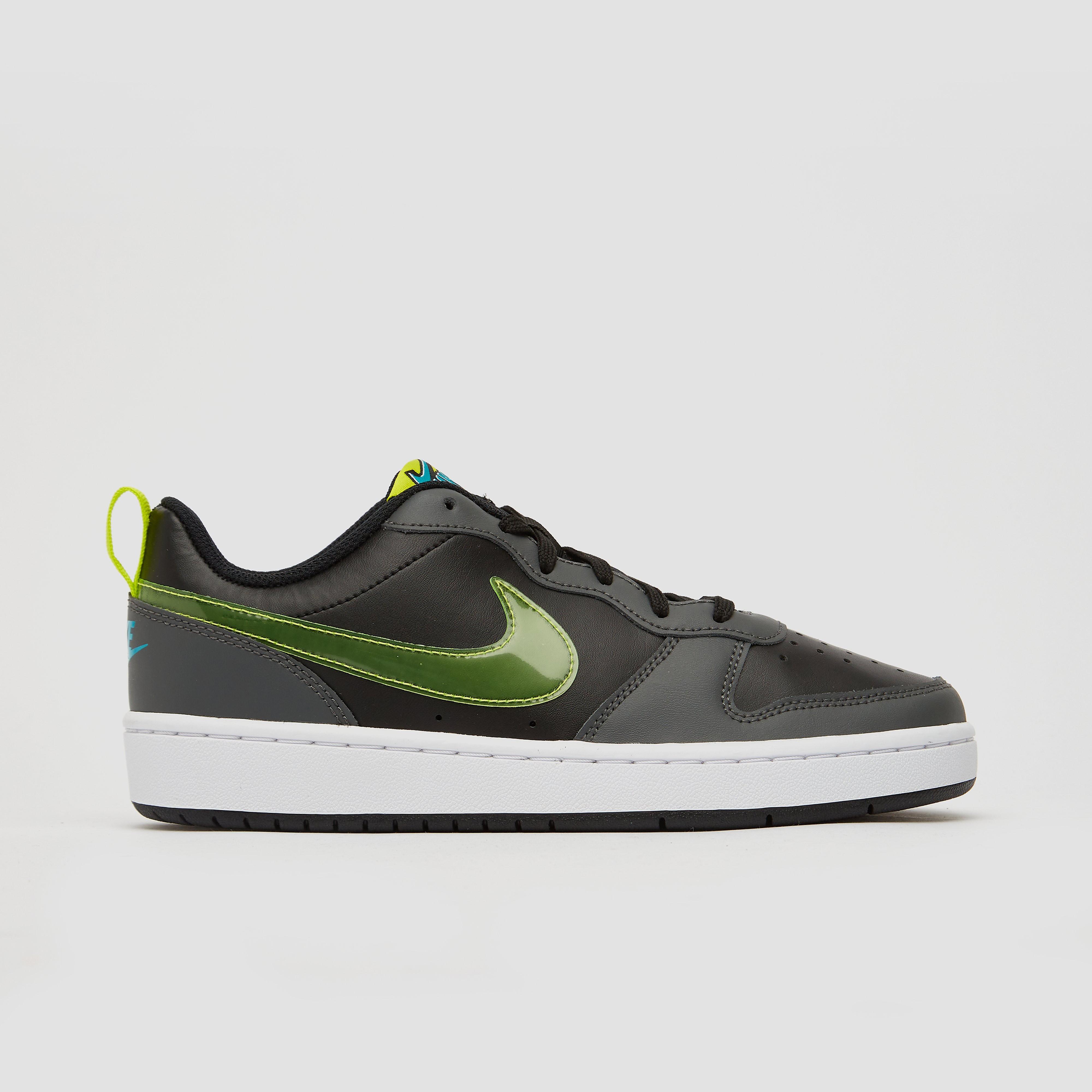 NIKE Court borough low 2 sneakers zwart/grijs kinderen Kinderen