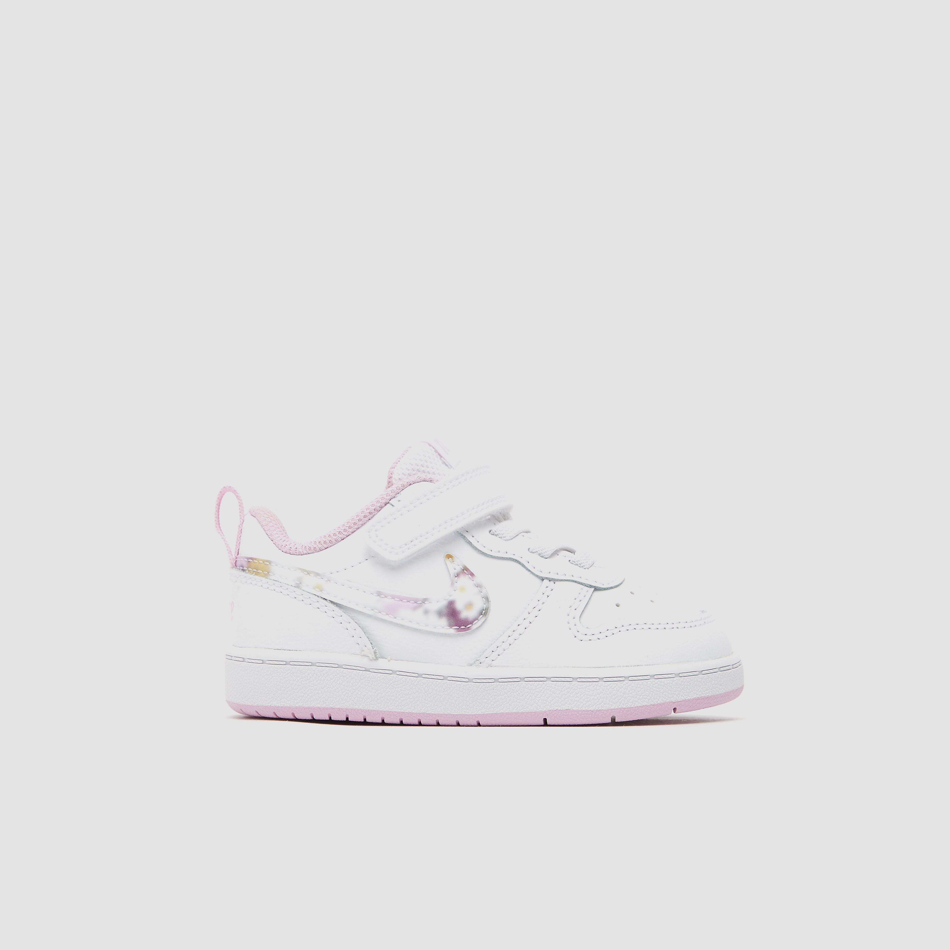 NIKE Court borough low 2 sneakers wit/roze kinderen Kinderen