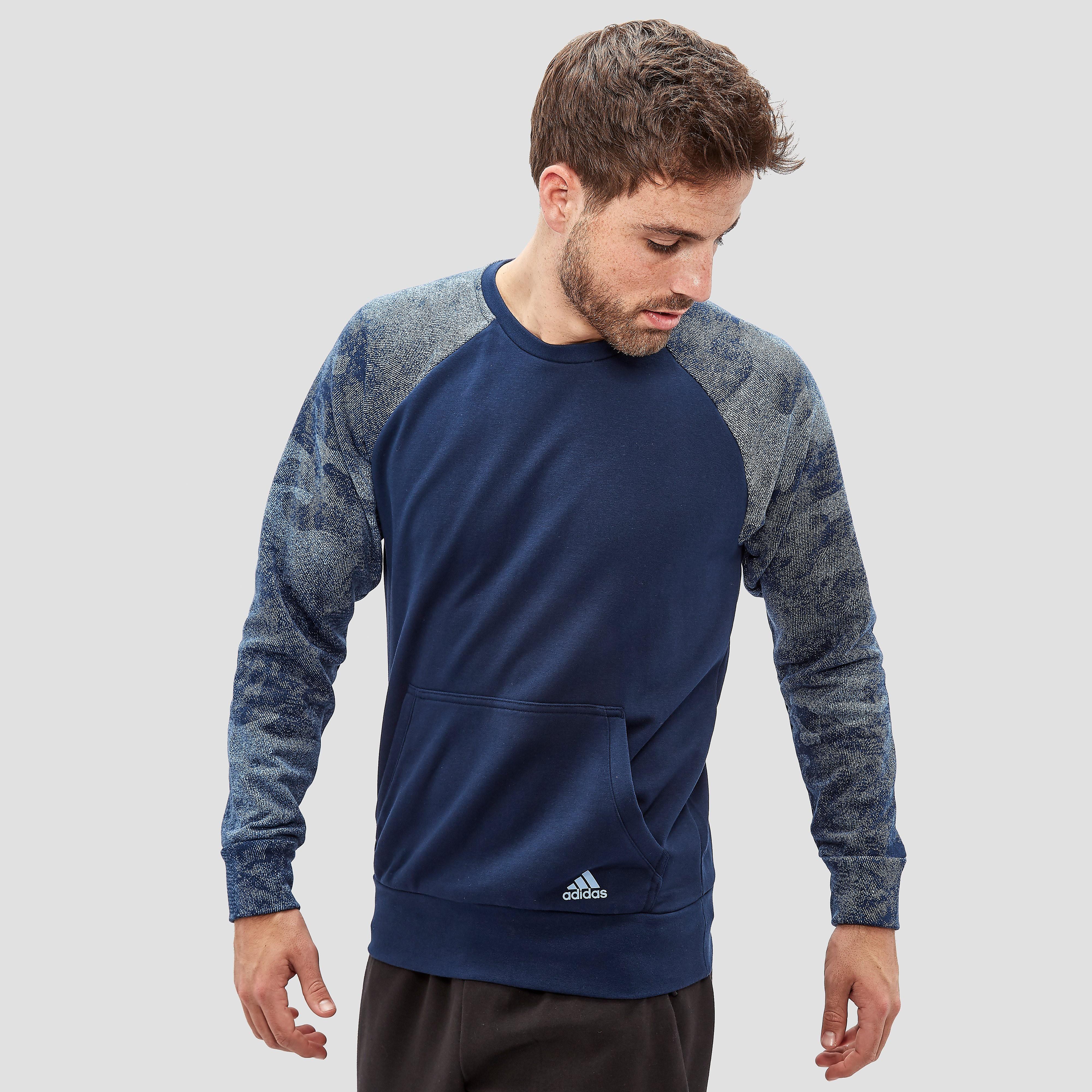 Essentials Camo Sweater Blauw Heren