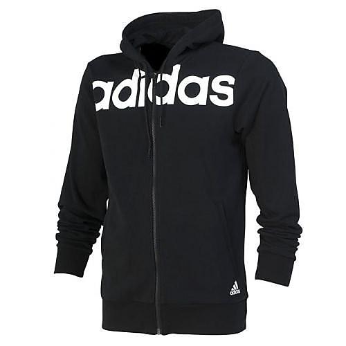 adidas essentials 3-stripes full zip hood