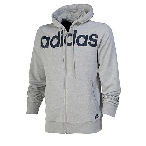 adidas essentials 3-stripes full zip hood