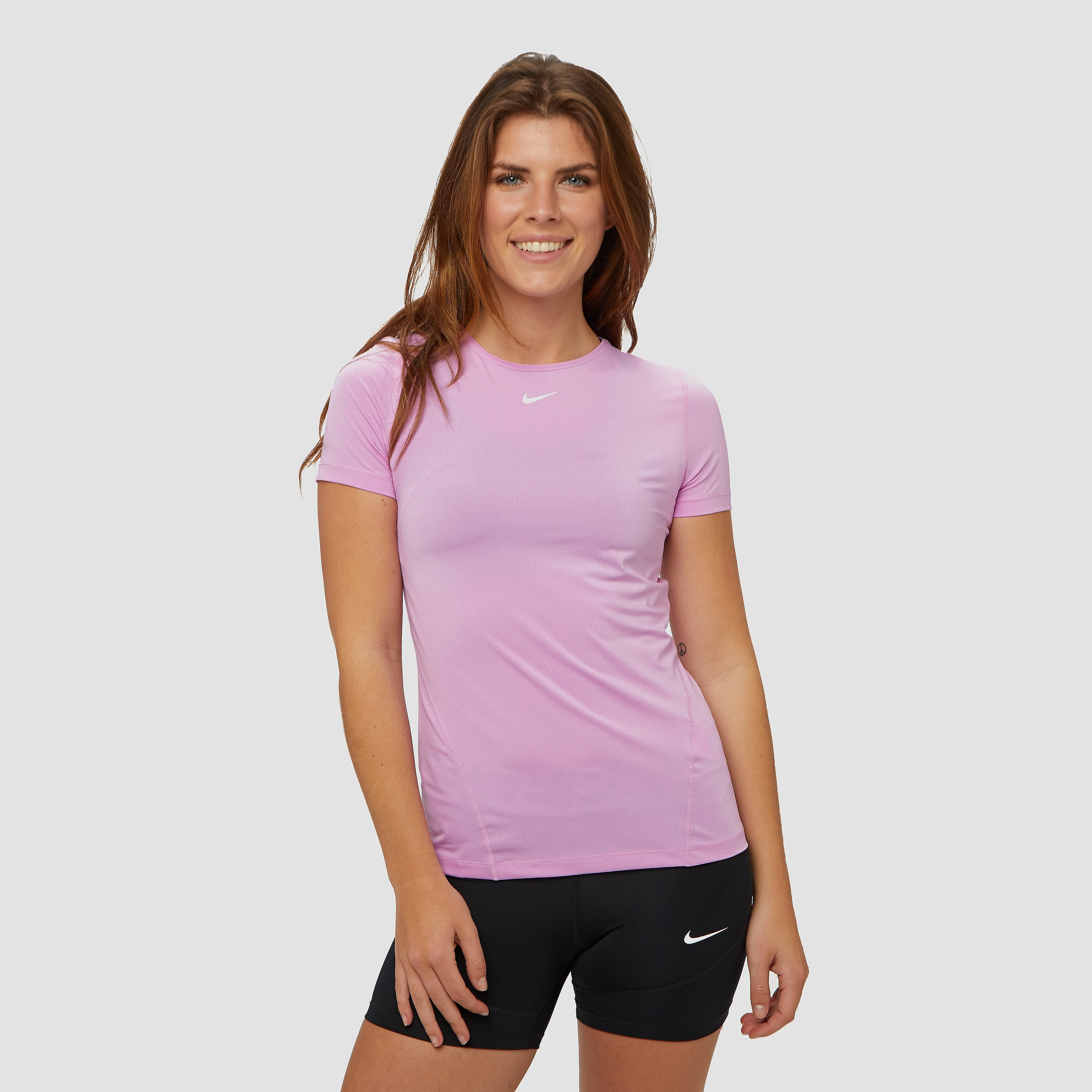 NIKE Pro all over mesh sportshirt roze dames Dames