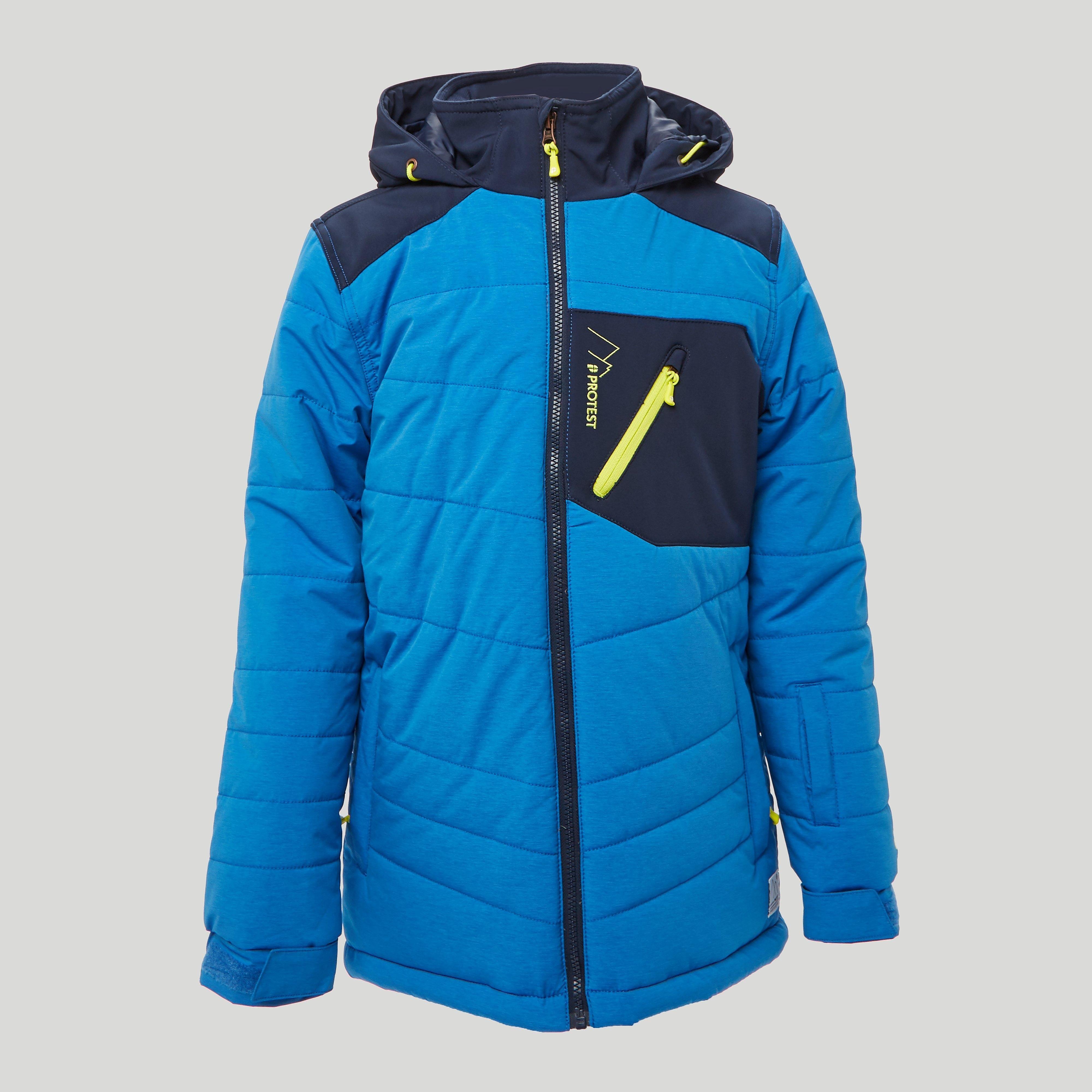 Laat deze edwin ski jas jou maar helpen bij een lekkere portie sneeuwschuiven. met dit blauwe kindermodel ...