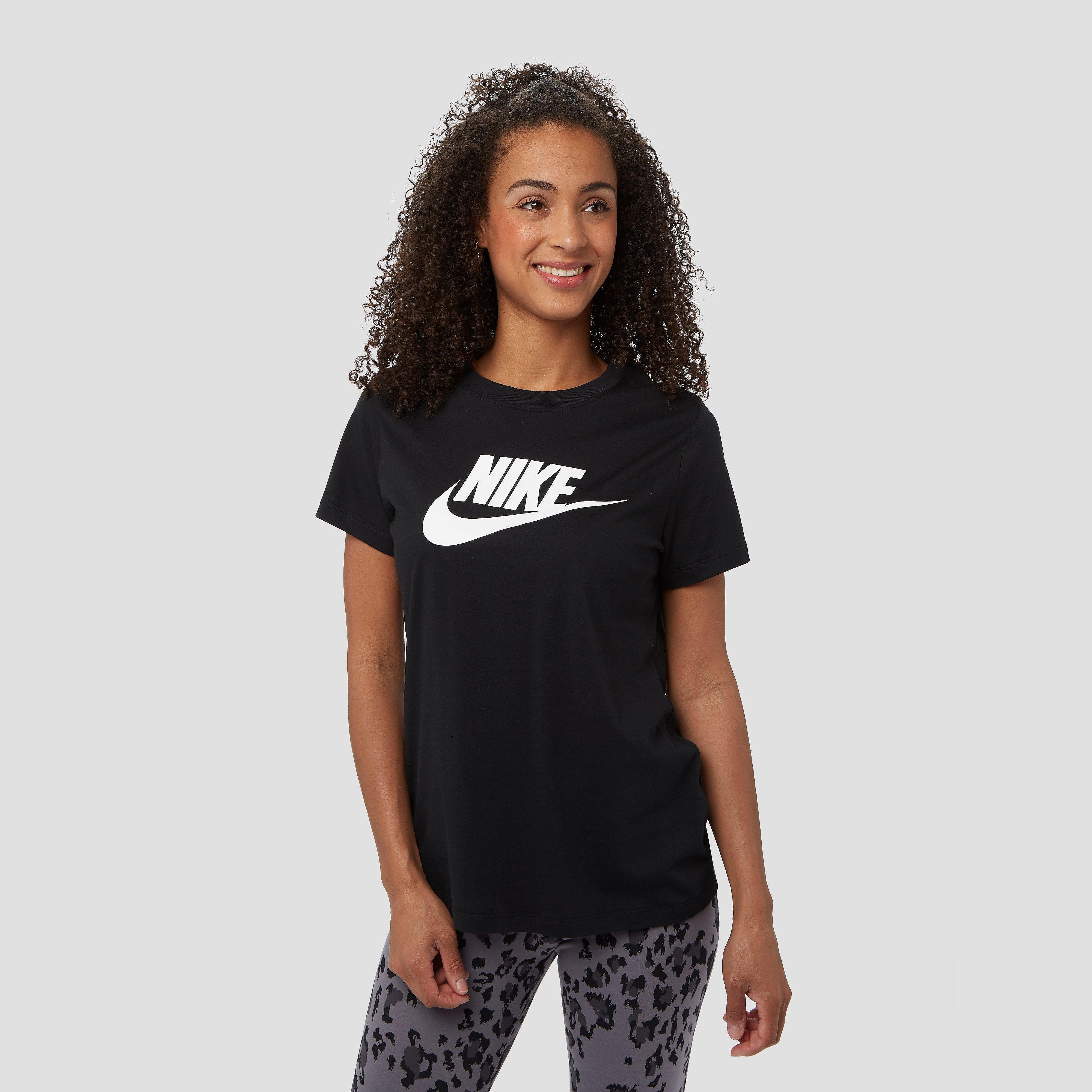 NIKE Sportswear essential icon futura shirt zwart dames Dames