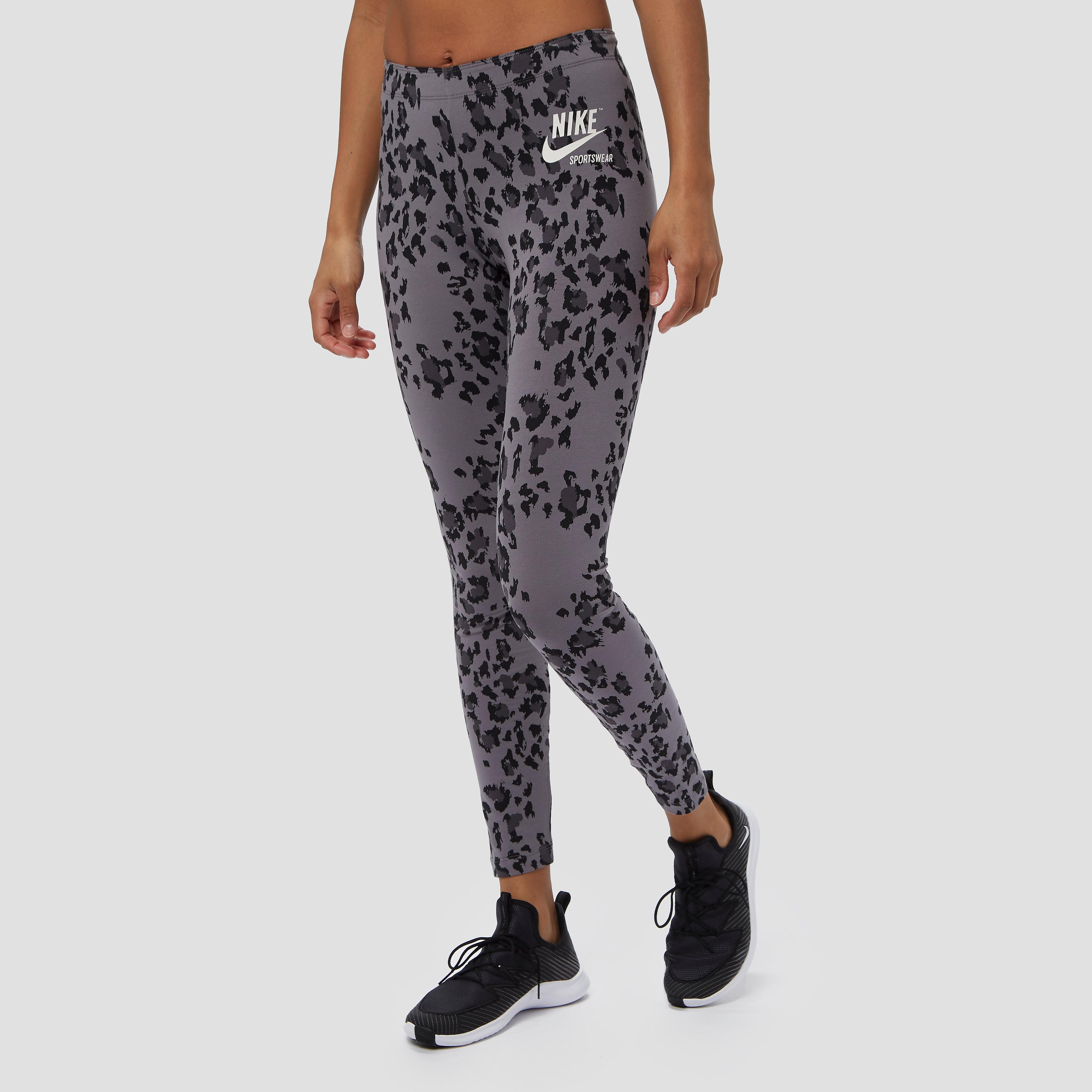 Sportswear leopard tight grijs/zwart dames