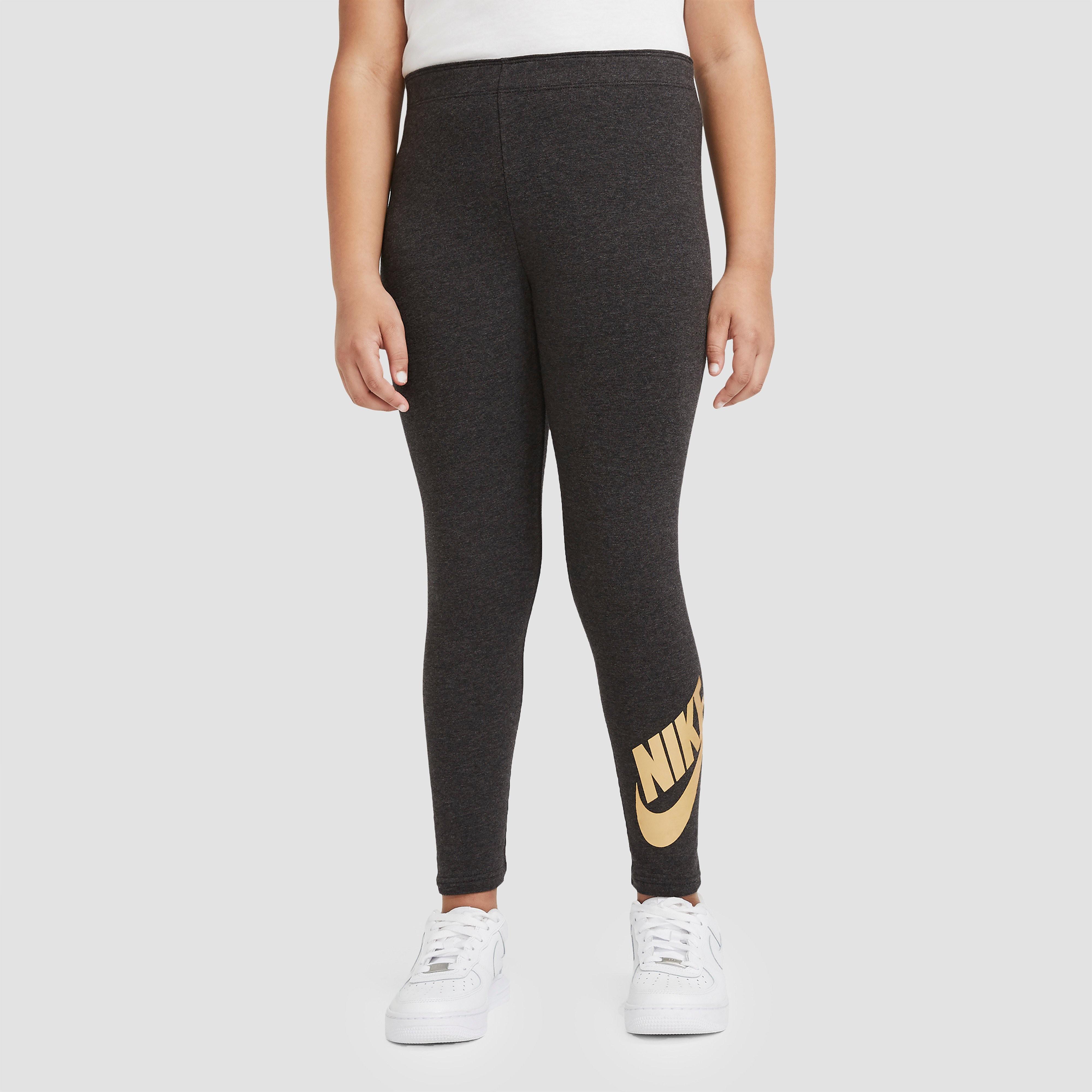 NIKE Sportswear graphic legging zwart/goud kinderen Kinderen