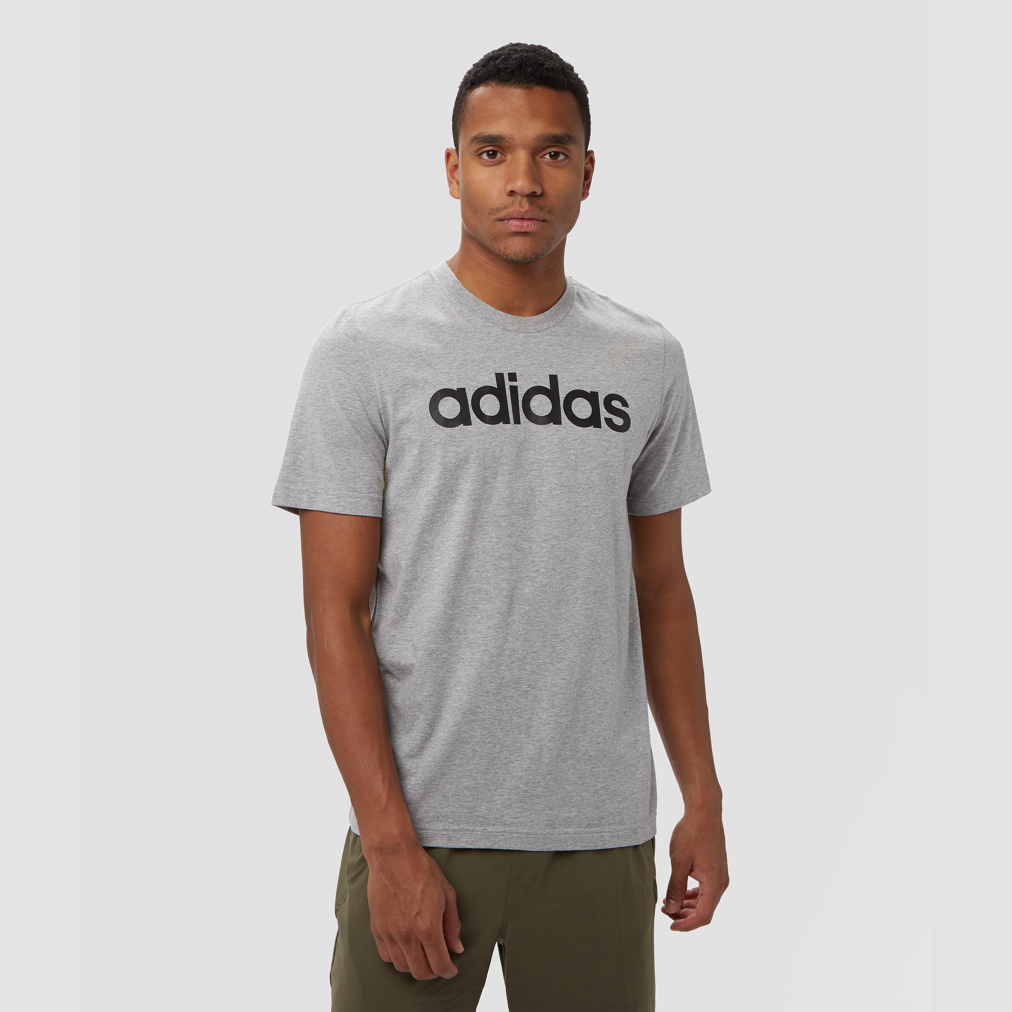 adidas Essentials linear shirt grijs heren Heren
