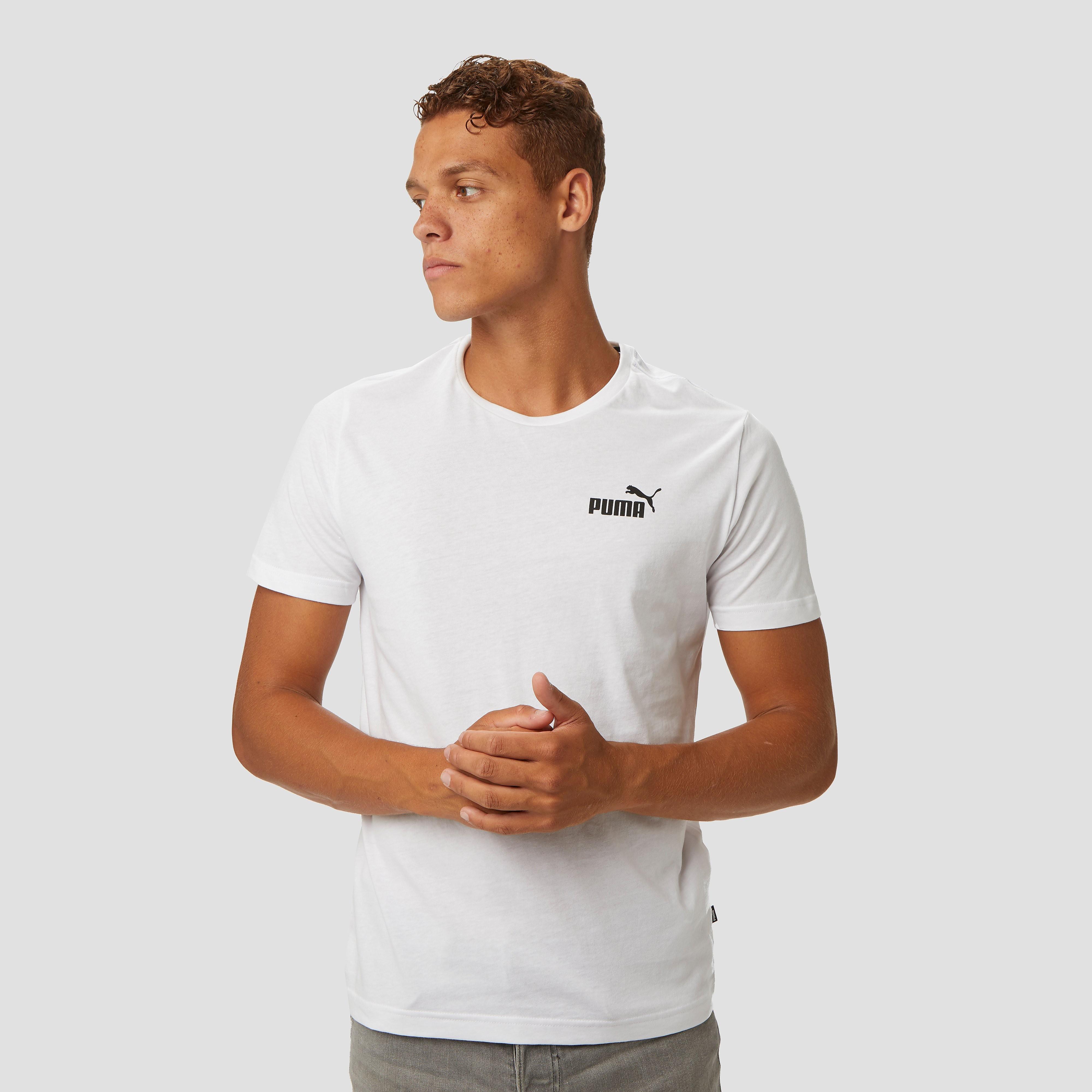 PUMA Essential small logo shirt wit heren Heren