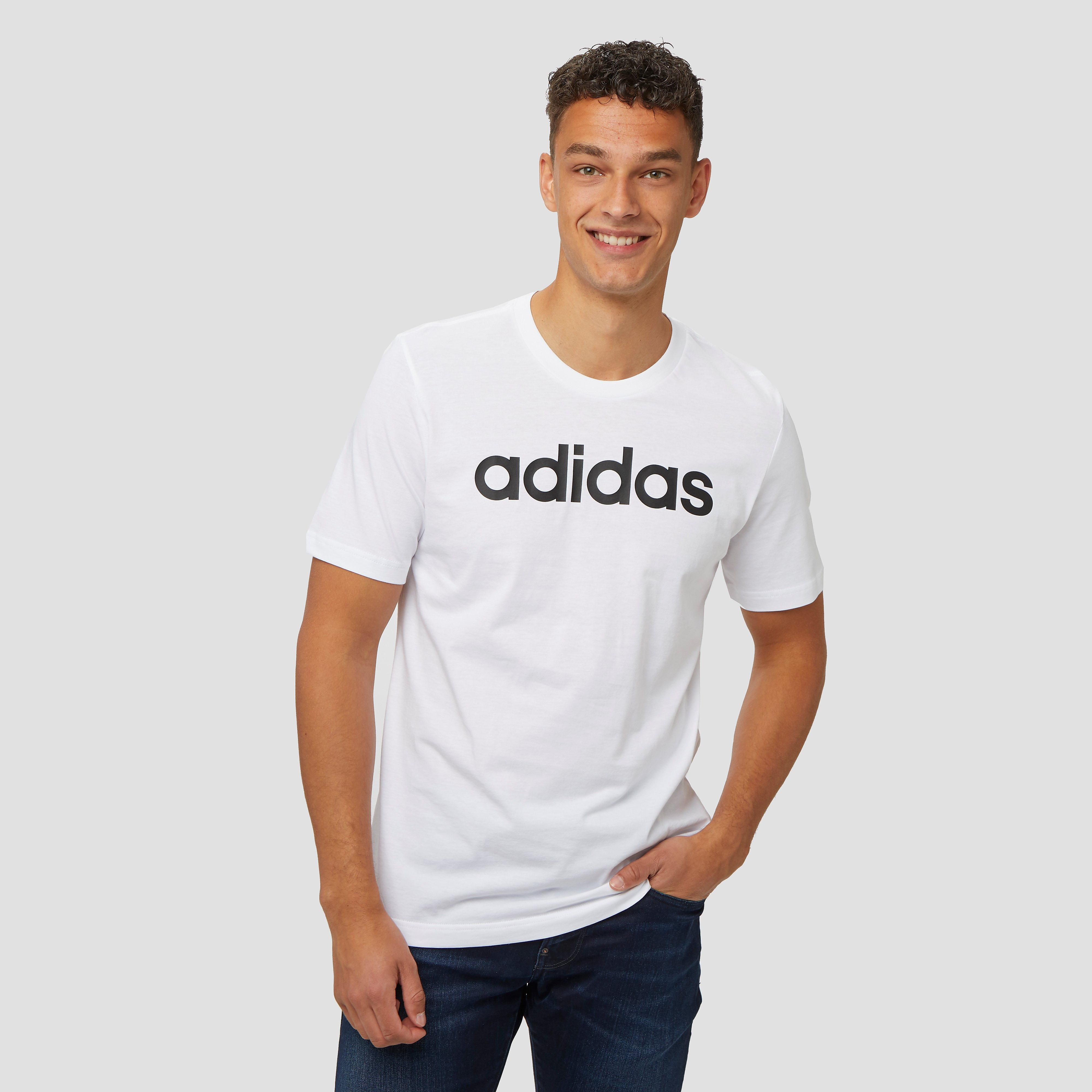 adidas Linear shirt wit heren Heren