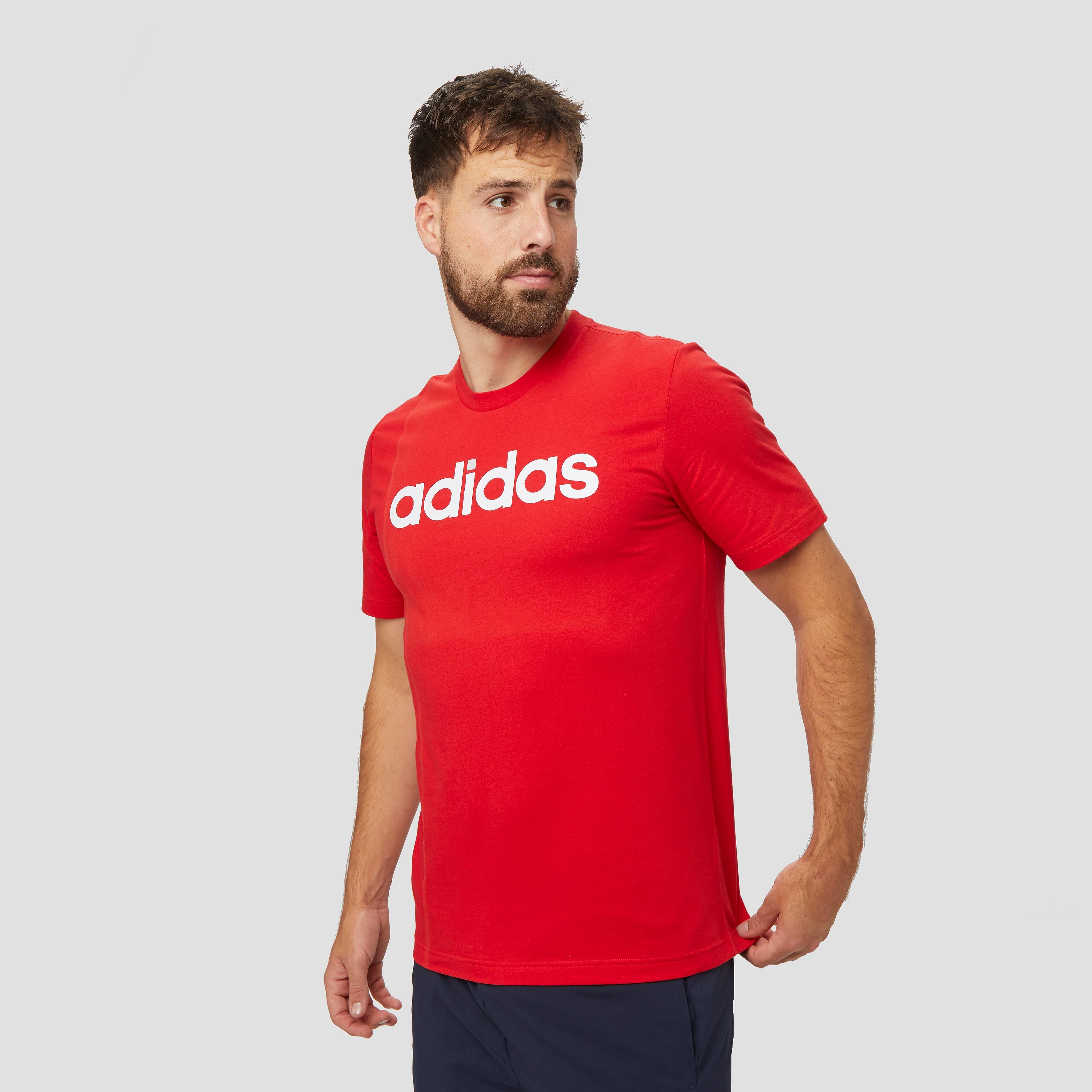 adidas Essentials linear shirt rood heren Heren