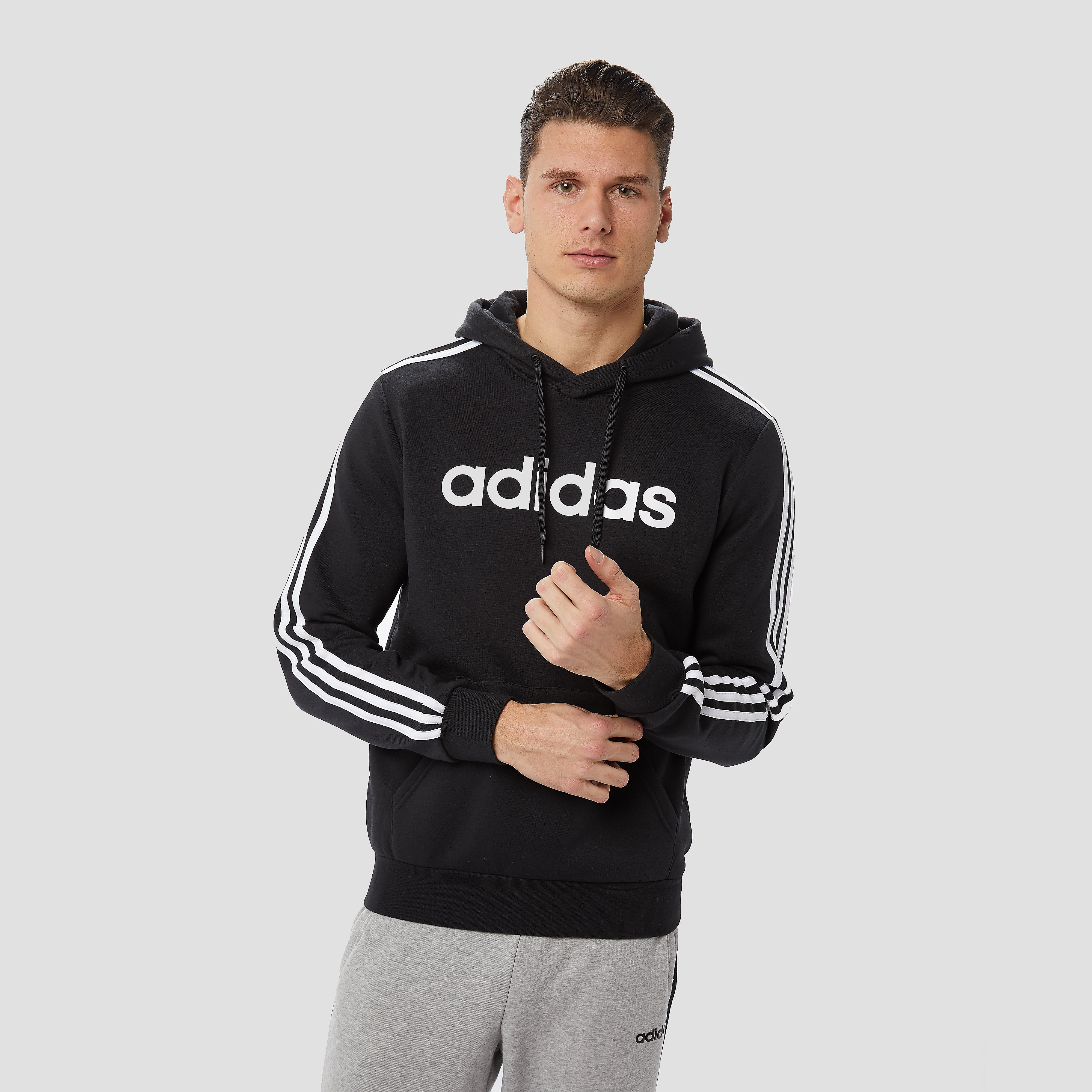 adidas Essentials 3-stripes fleece trui zwart heren Heren