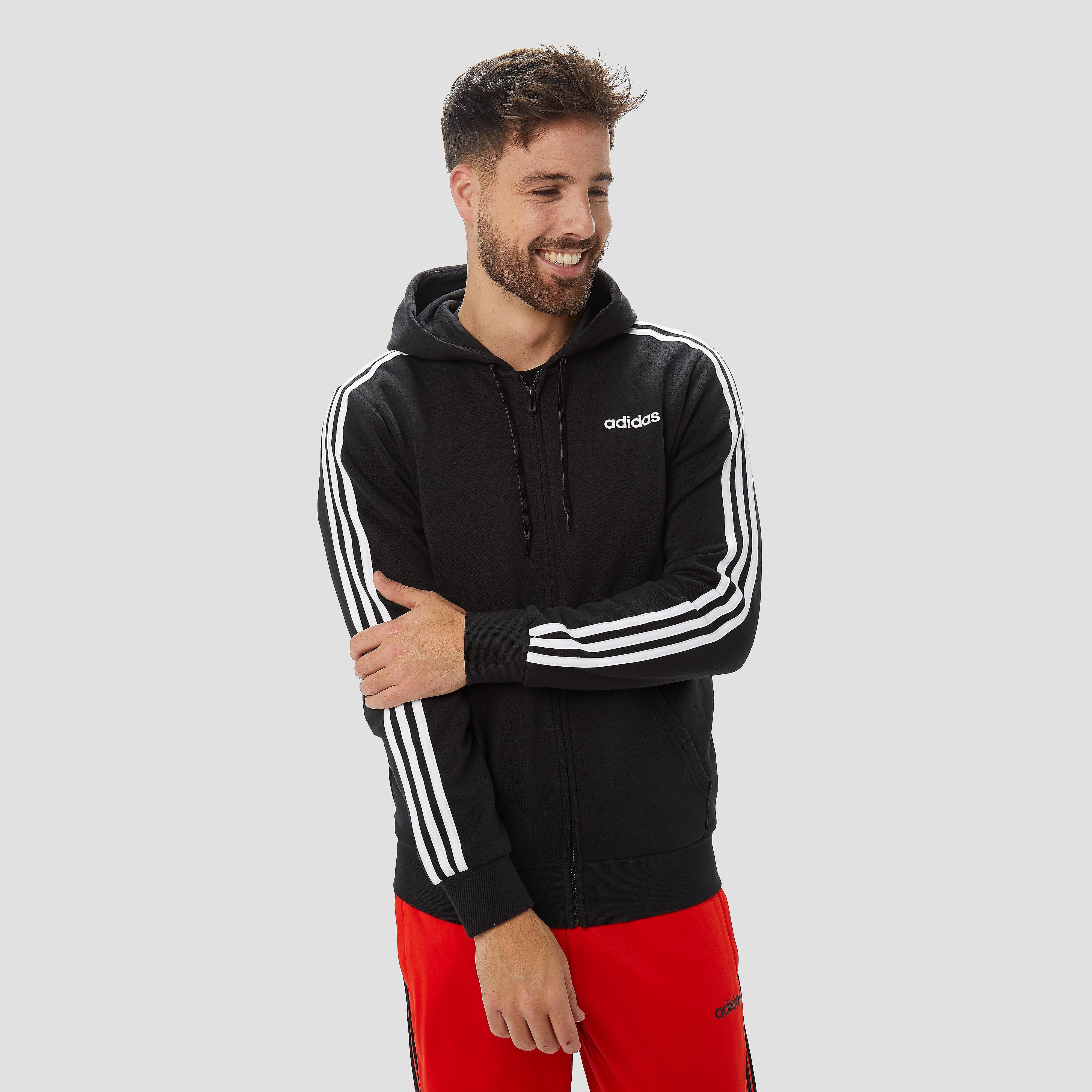 adidas Essentials 3-stripes fleece trui zwart heren Heren