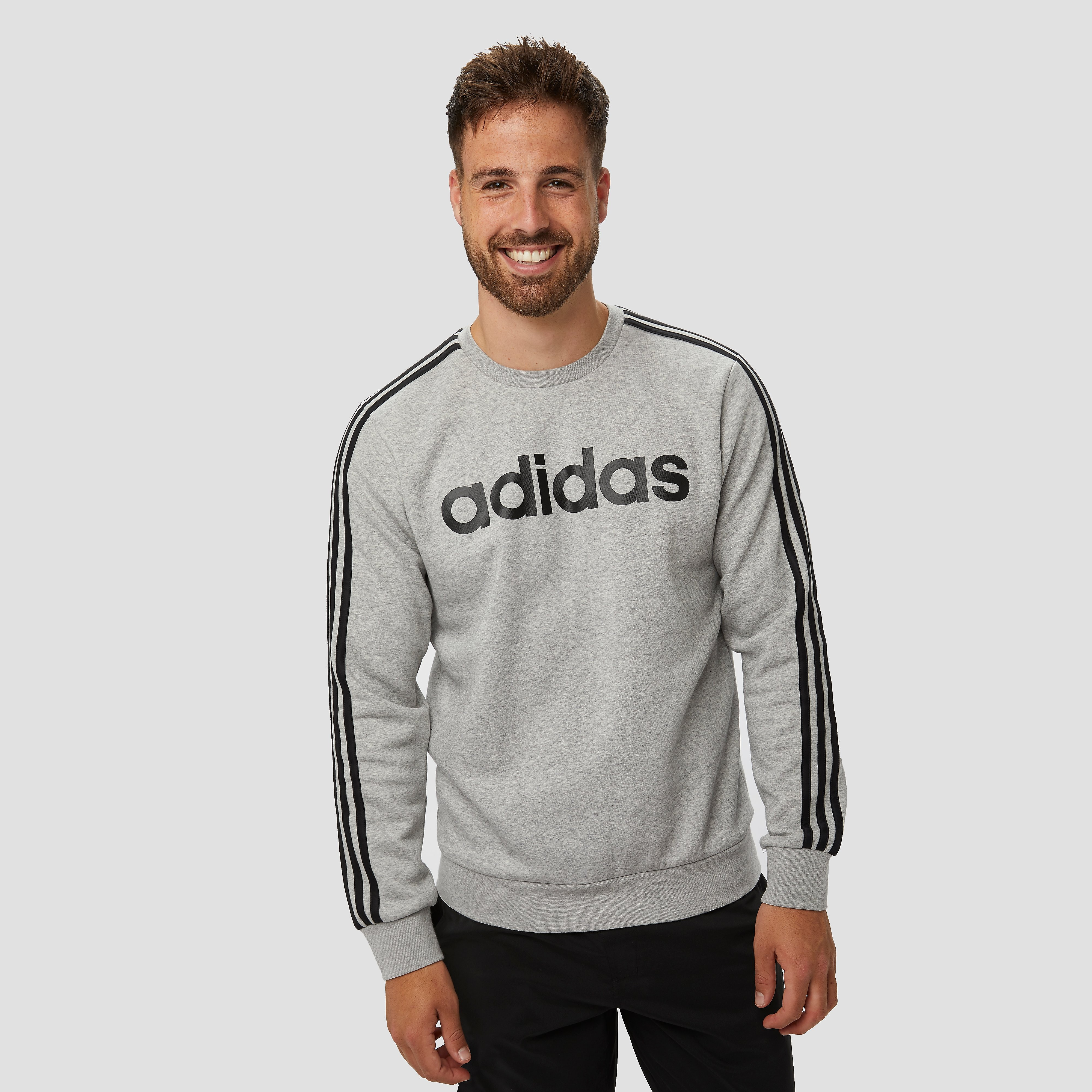 adidas Essentials 3-stripes crew fleece sweater grijs heren Heren | Online  kopen via Skishop4u.nl | Decathlon.nl