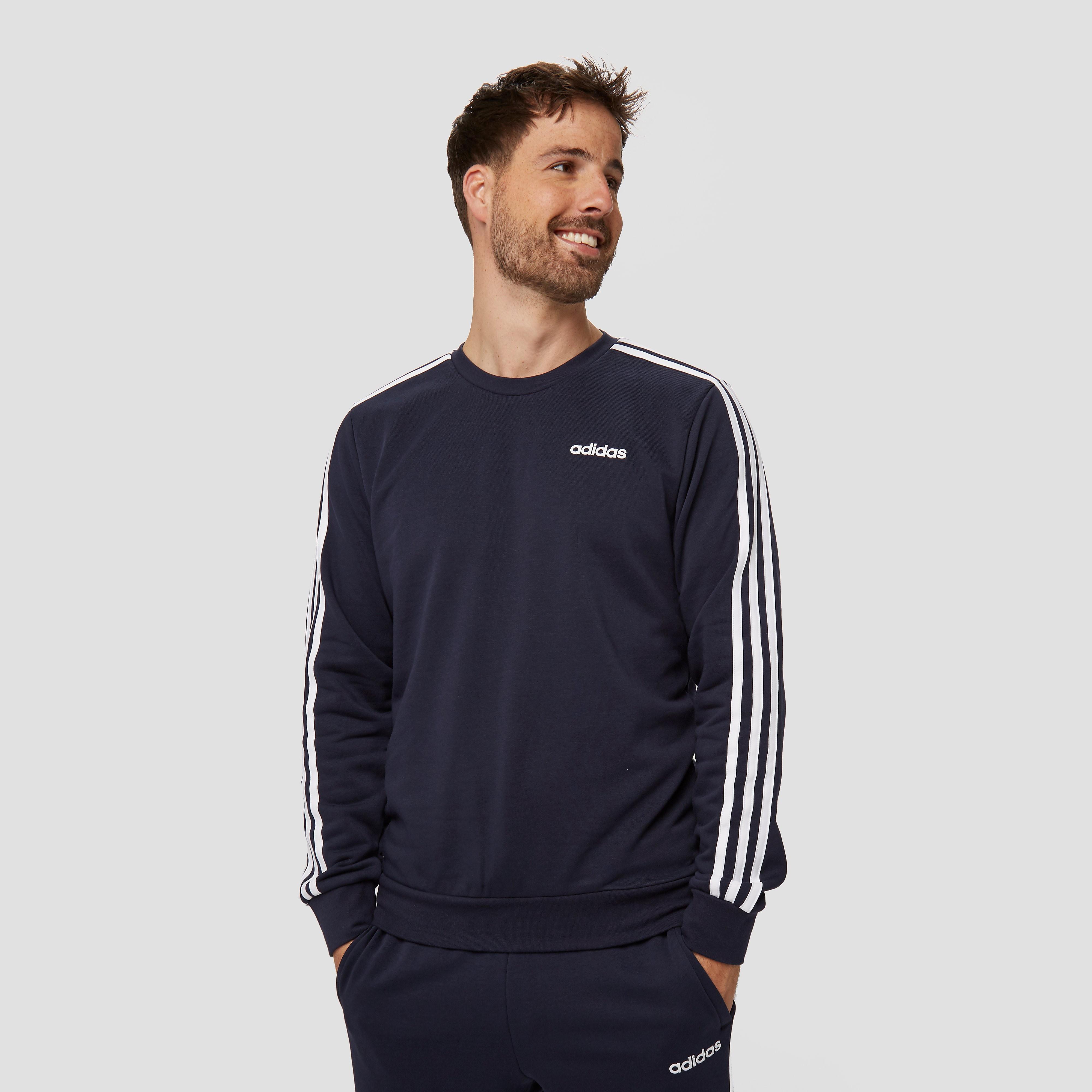 adidas 3-stripes crew sweater blauw heren Heren