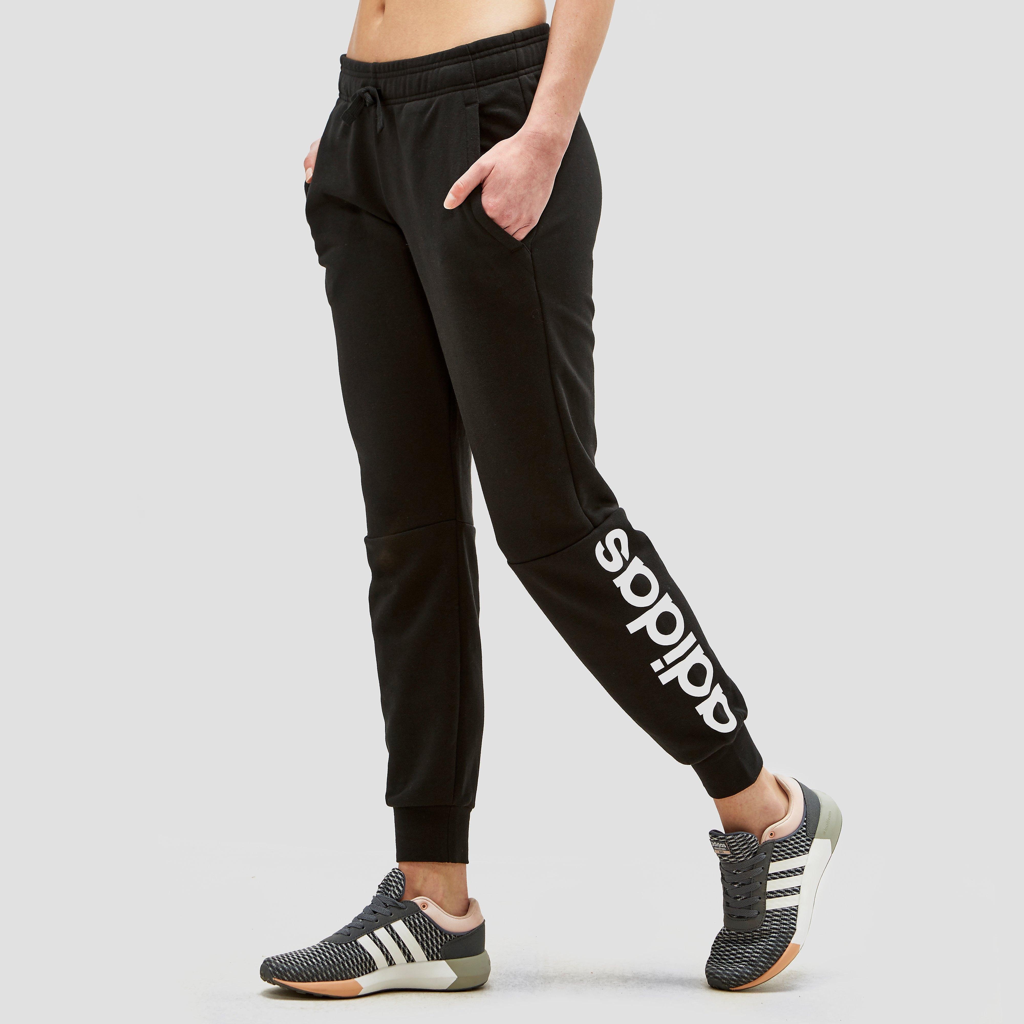 Adidas Essentials Linear women's training pants (black-white) S