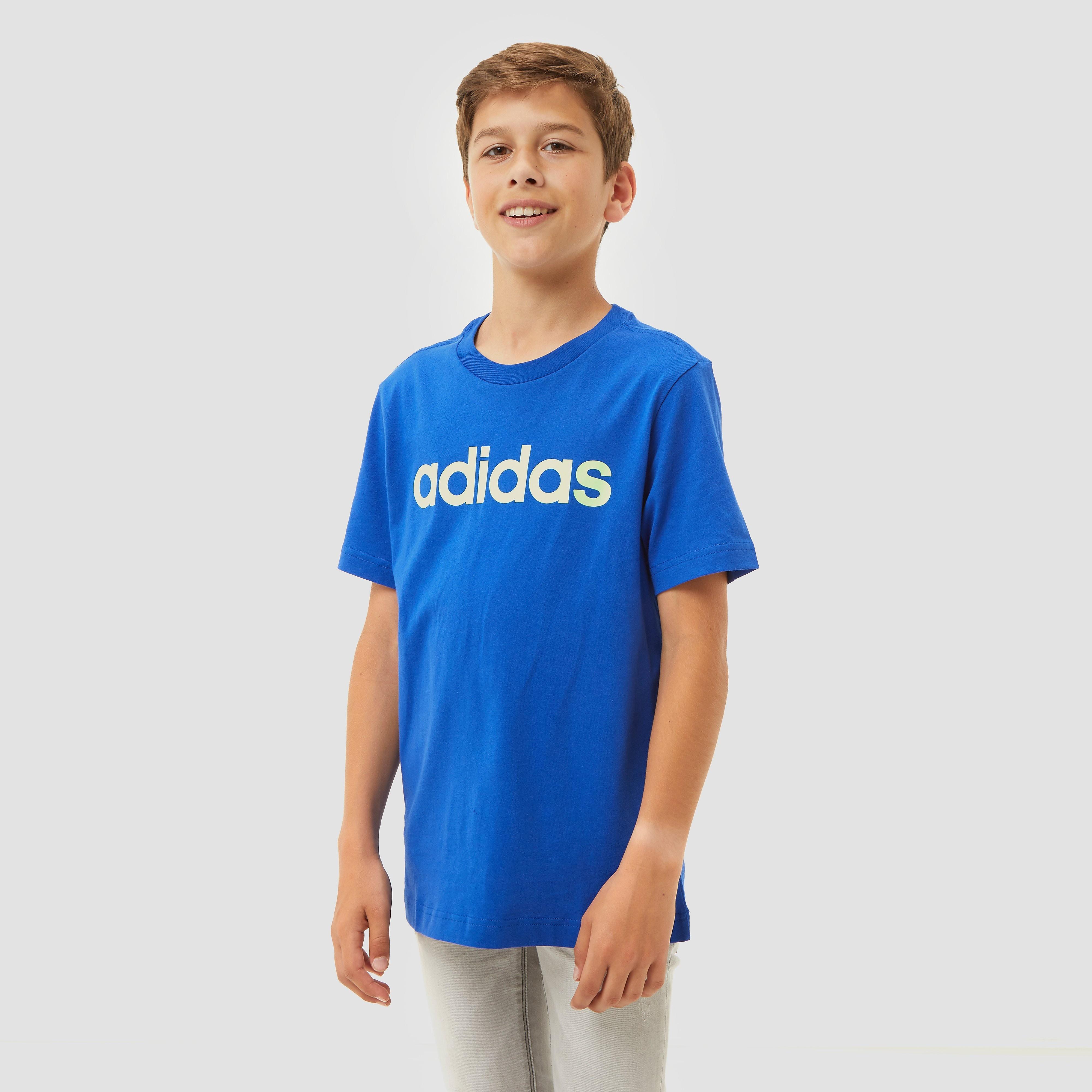 adidas Linear shirt blauw kinderen Kinderen
