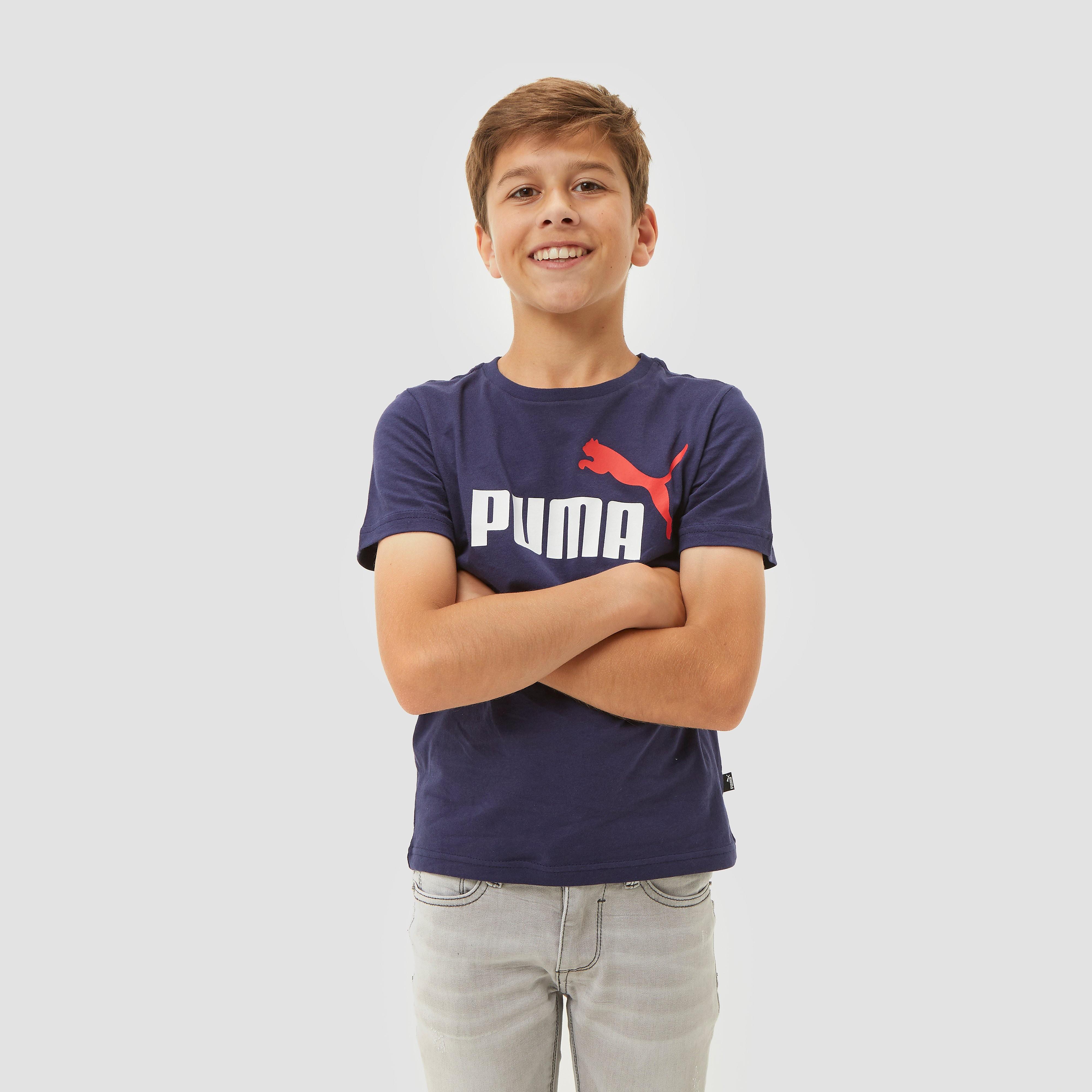 PUMA Essential 2 col logo shirt blauw kinderen Kinderen