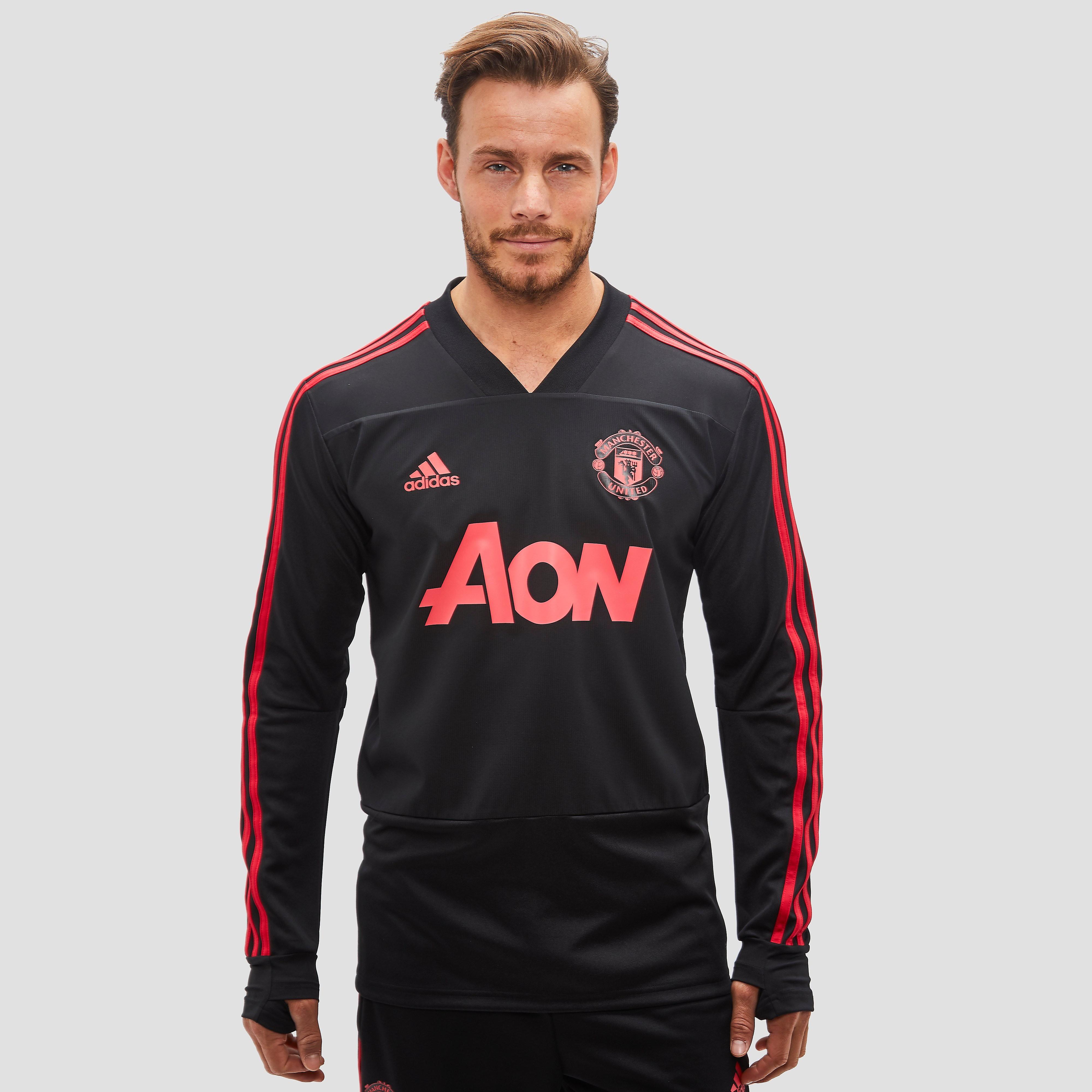 Manchester United Fc Trainingstop 18-19 Zwart-Rood Heren Black-Red