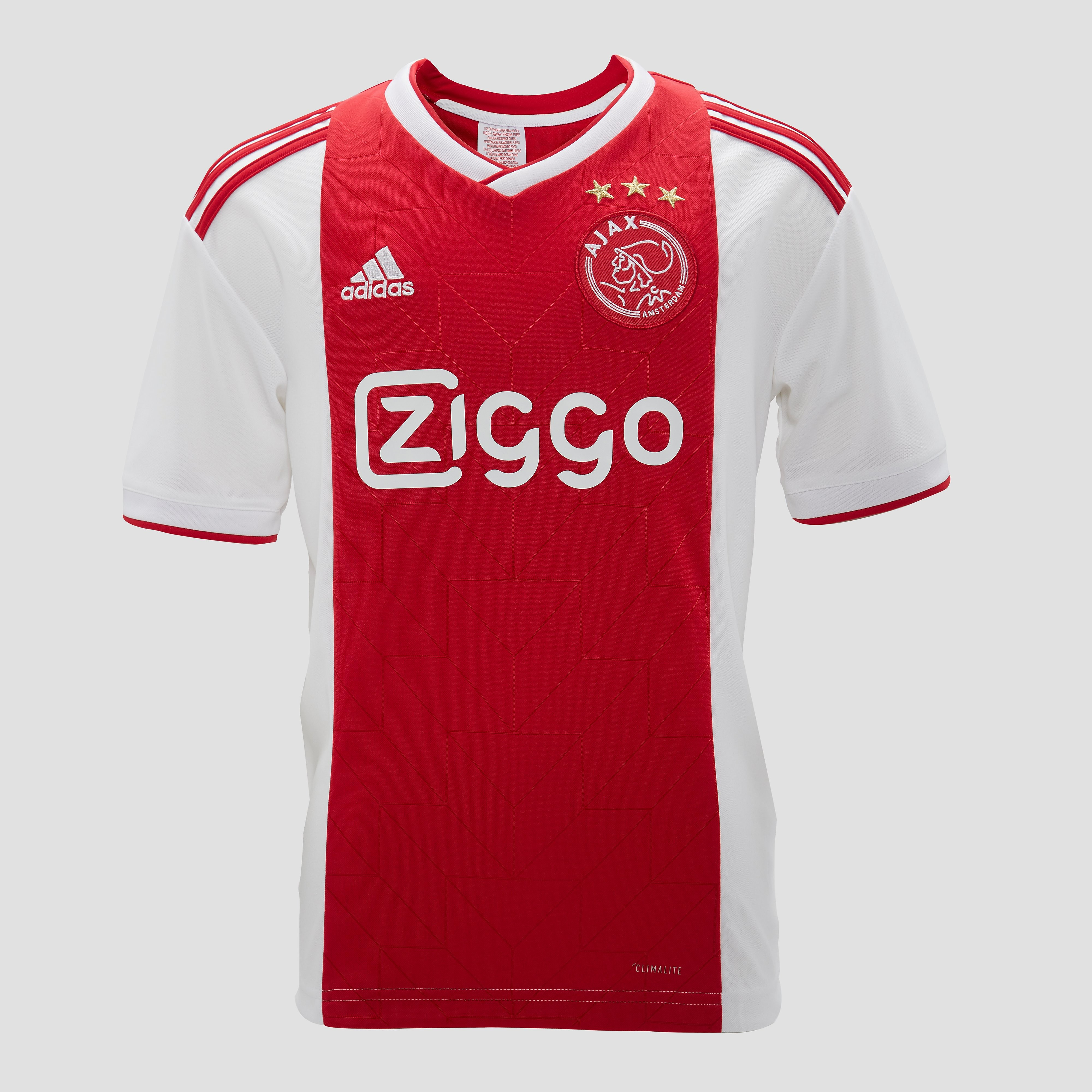 Ajax Thuisshirt 18-19 Wit-Rood Kinderen White-Red