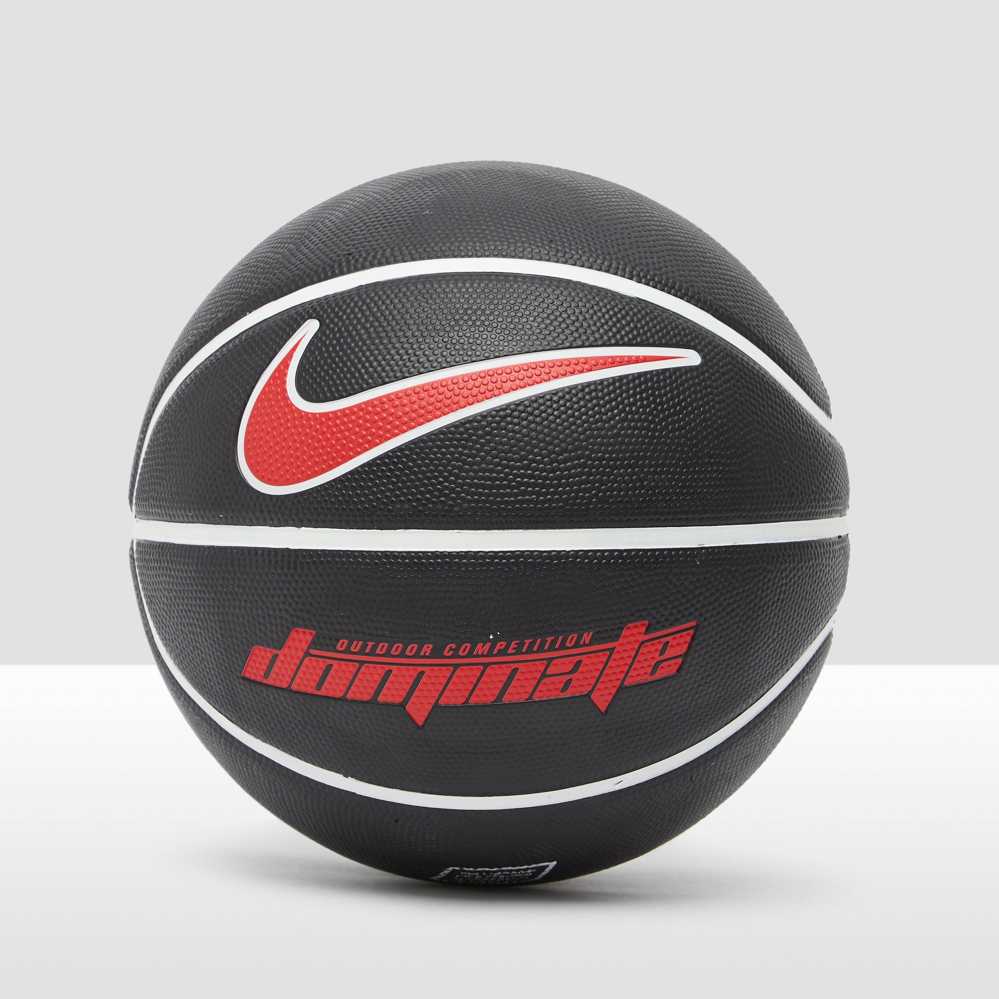 NIKE Dominate 8-panel basketbal zwart/rood Kinderen