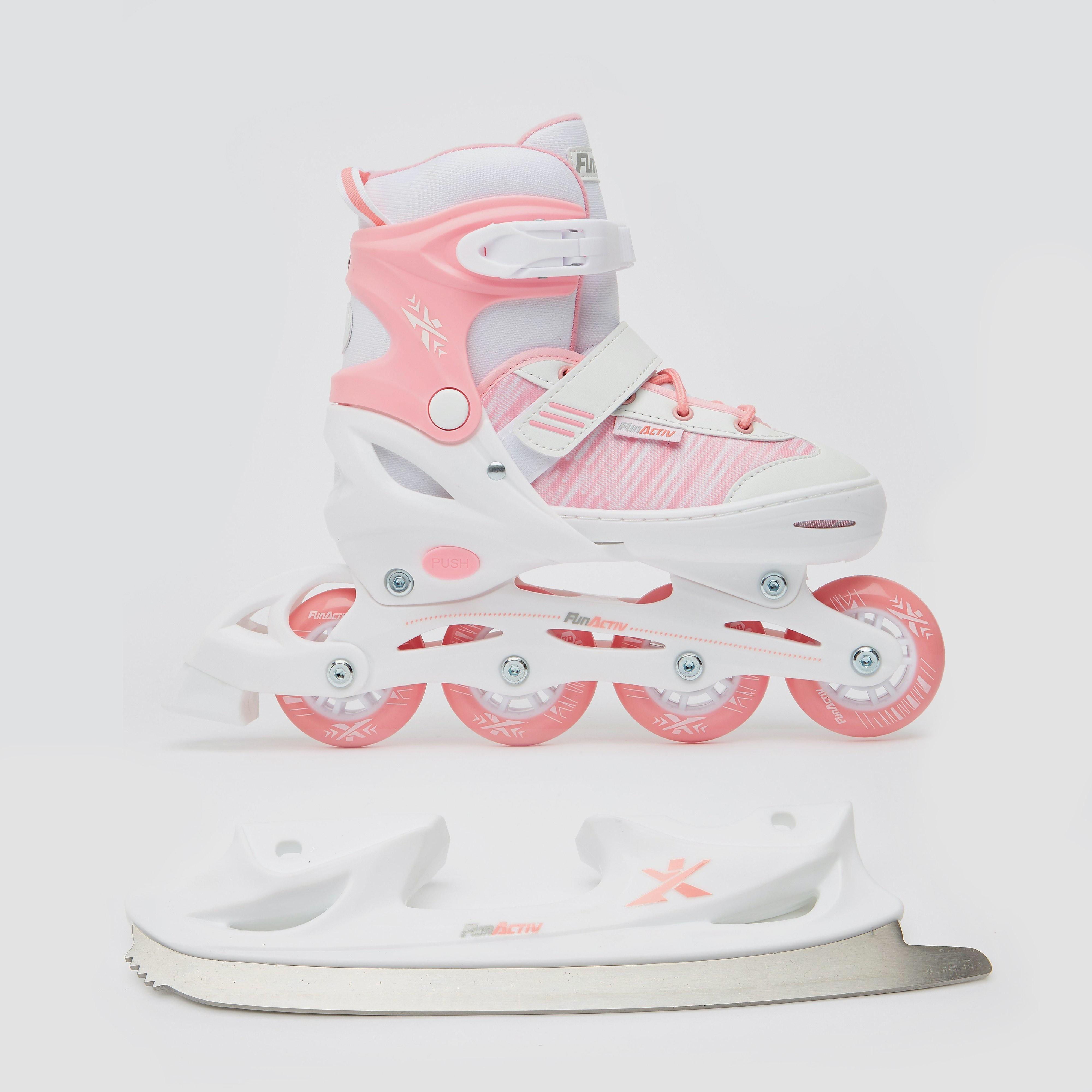 FUN-ACTIVE Orin duo schaatsen/skeelers roze kinderen Kinderen