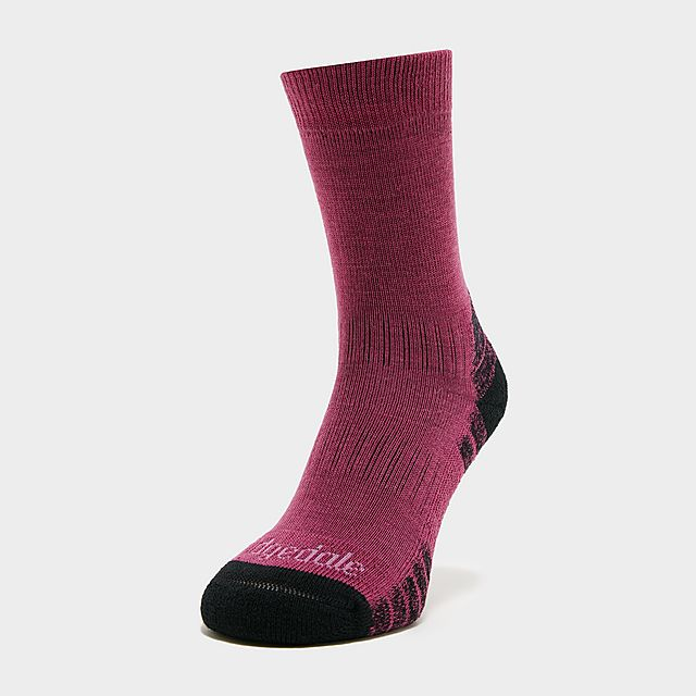 BRIDGEDALE Women's HIKE Lightweight Merino Performance Socks, PUR/PUR