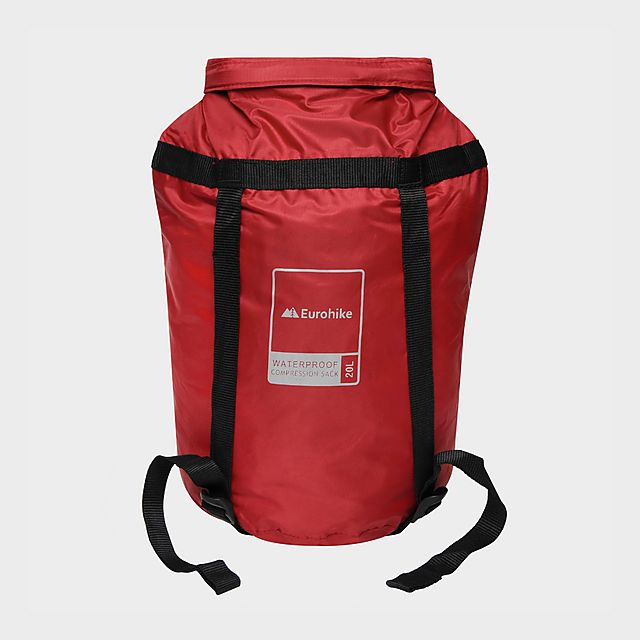 Eurohike 20L Waterproof Compression Sack, Red