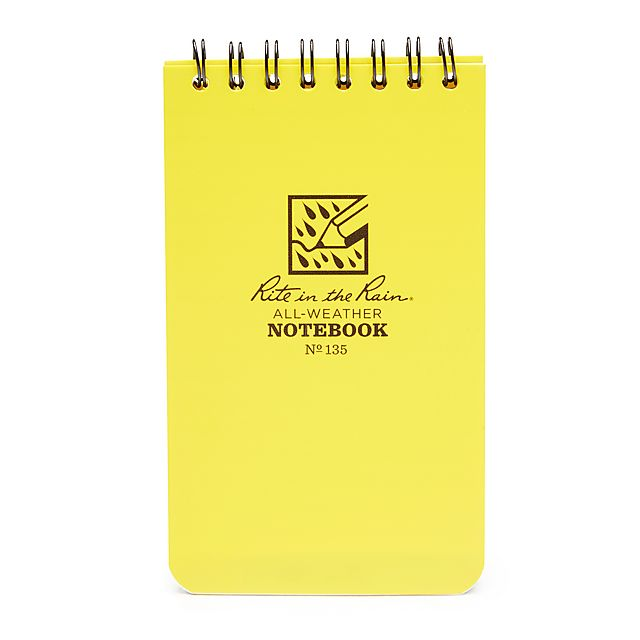 "RITE Waterproof 3ƒ? x 5ƒ? Notepad, 3X5""/3X5"""