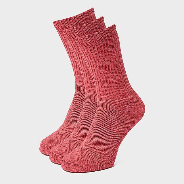 Peter Storm Women's 3 Pack Essential Socks, DPK/DPK