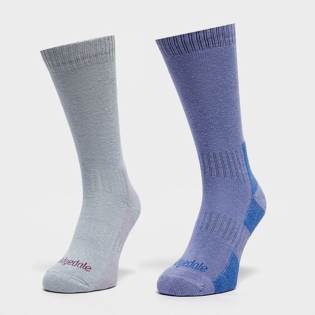 BRIDGEDALE Women's Dingle Sock Multipack, Blue/Blue