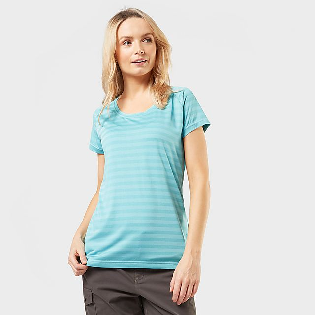 Sprayway Women's Malpais Striped T-Shirt, Blue