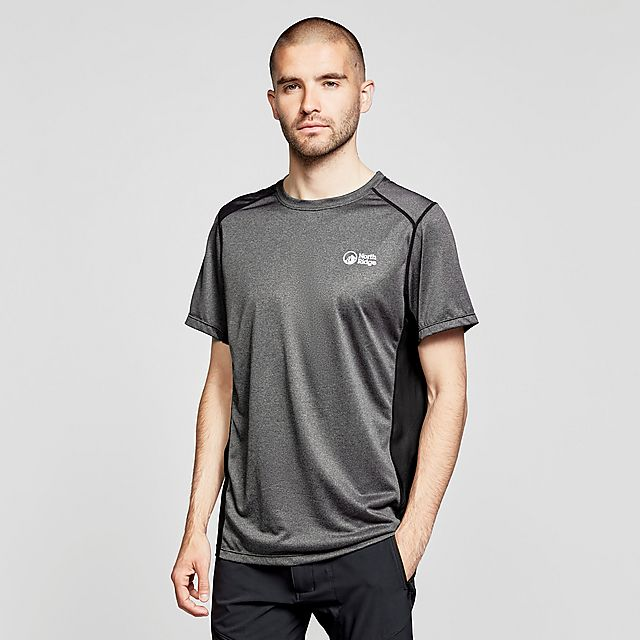 North Ridge Resistance Short Sleeve Baselayer - Grey/Ss, grey/SS