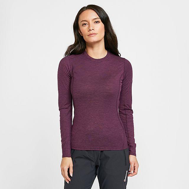 Montane Women's Primino 140 Long Sleeve T-Shirt, PURPLE/WM
