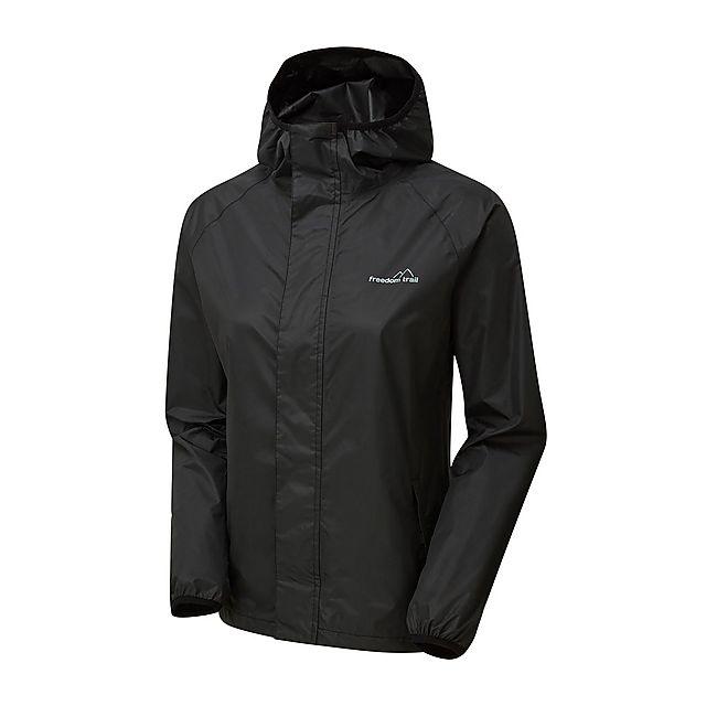 FreedomTrail Women's Stowaway Waterproof Jacket, BLACK/WMNS
