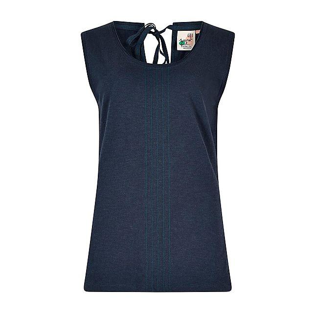 Weird Fish Women's Berti Slub Cotton Vest, NAVY/WMNS