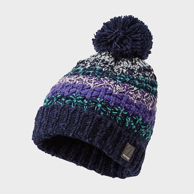 The Edge Women's Snow Flurry Hat, NAVY/WMNS