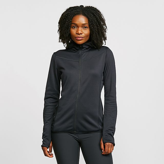 CRAFT Women's Eaze Sweat Hood Jacket, BLK/BLK