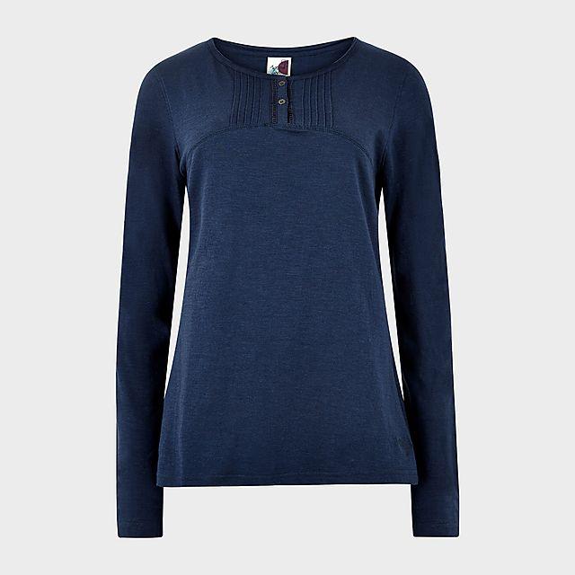 Weird Fish Women's Mae Long Sleeve T-Shirt, NVY/NVY