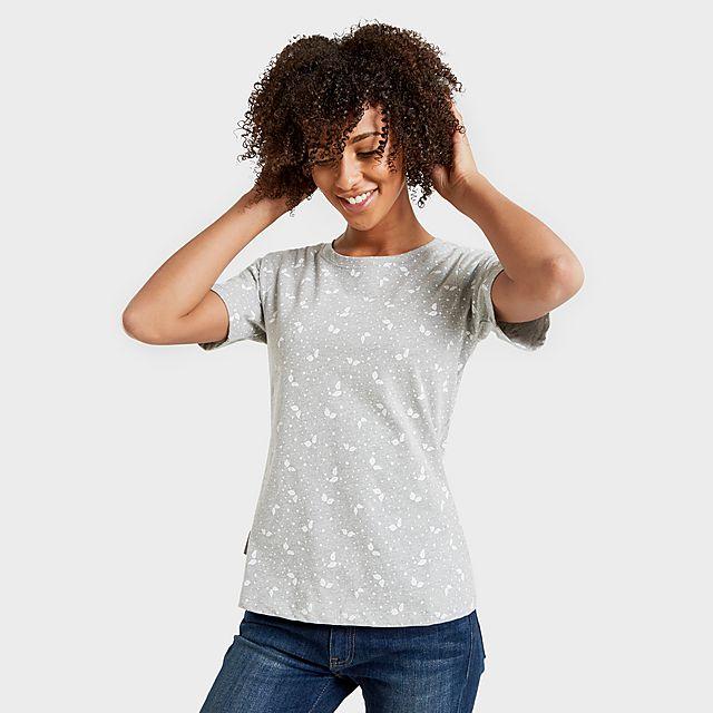 Peter Storm Women's Angel Pattern T-Shirt, GRY/GRY