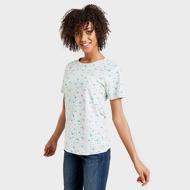 Peter Storm Women's Angel Pattern T-Shirt, TURQ/TURQ